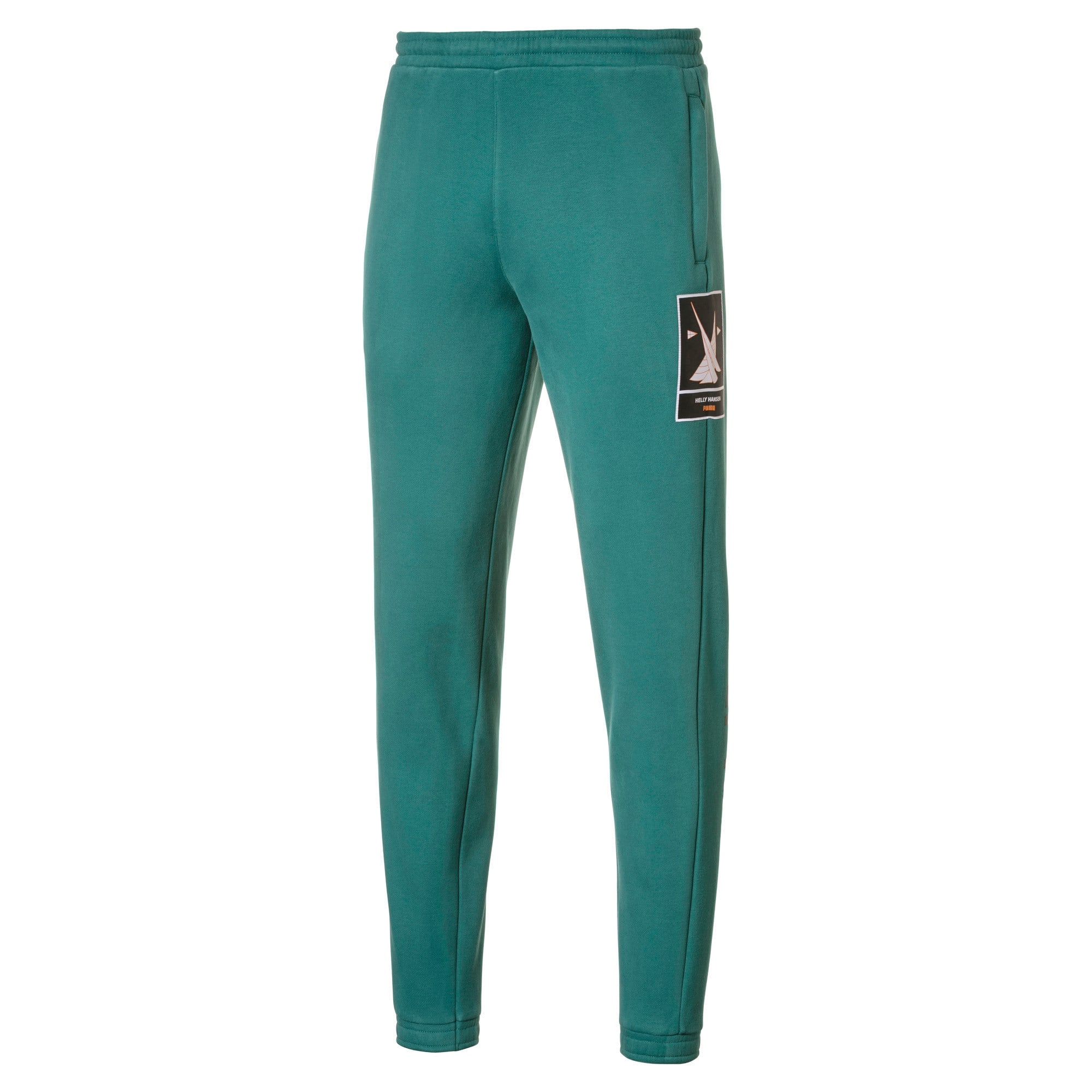 Thumbnail 1 of PUMA x HELLY HANSEN Fleece Trainingshose, Teal Green, medium