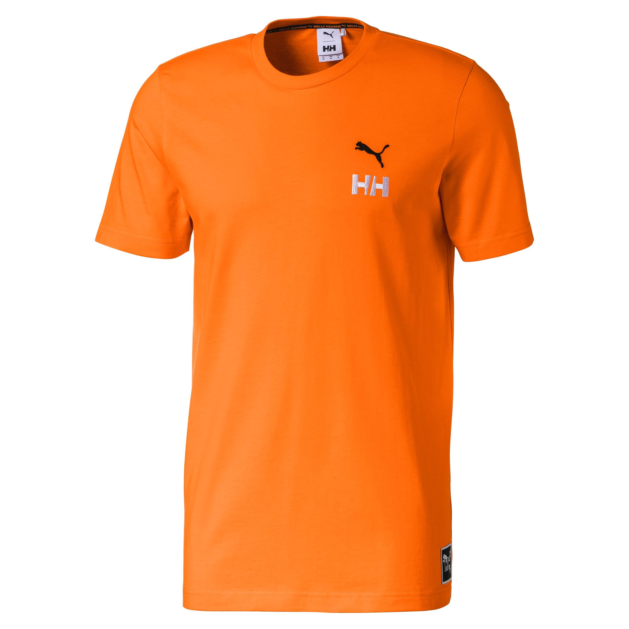 PUMA x HELLY HANSEN Crew Neck Cotton Tee, Orange Popsicle, large