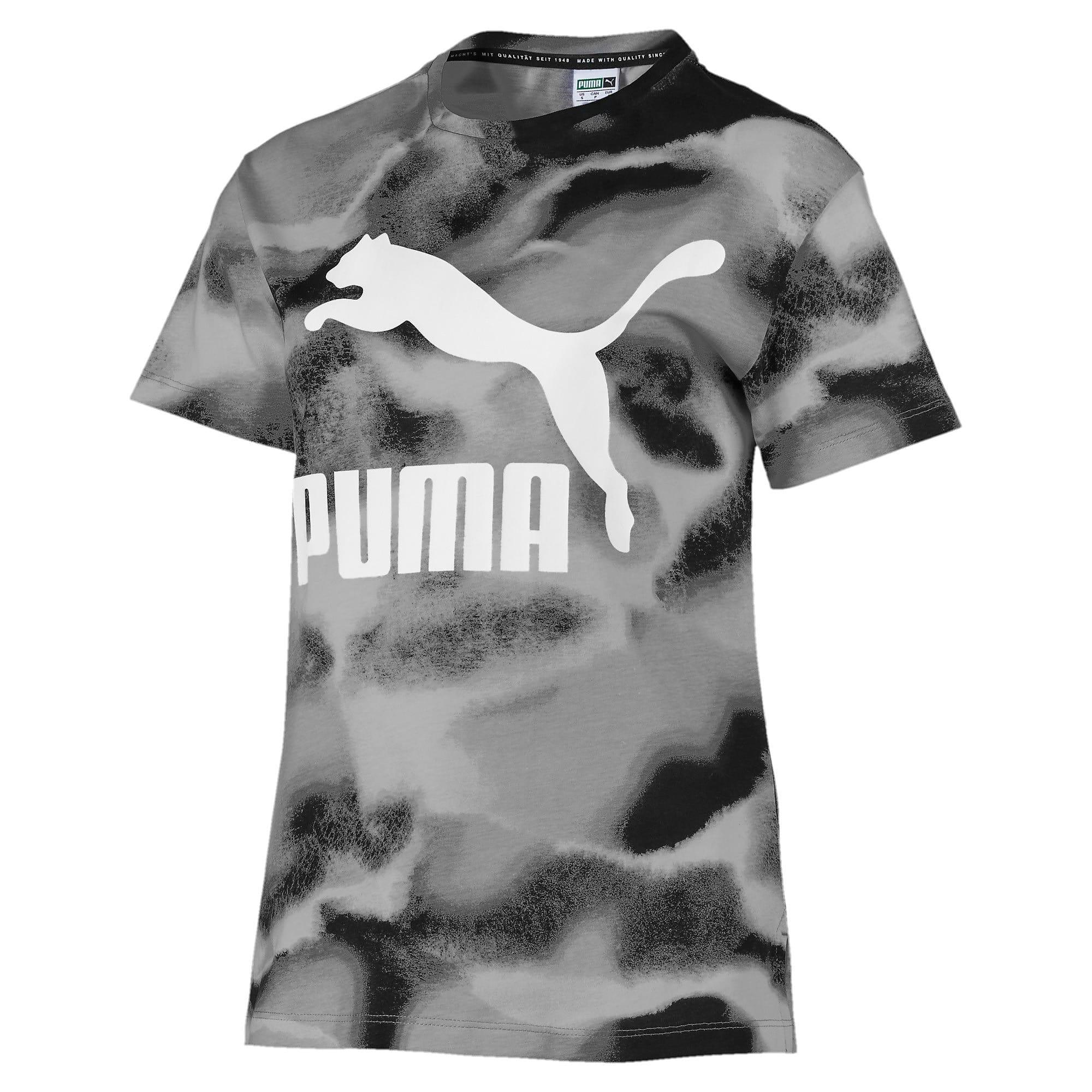 Thumbnail 1 of CLOUD パック ウィメンズ AOP Tシャツ, Puma Black, medium-JPN
