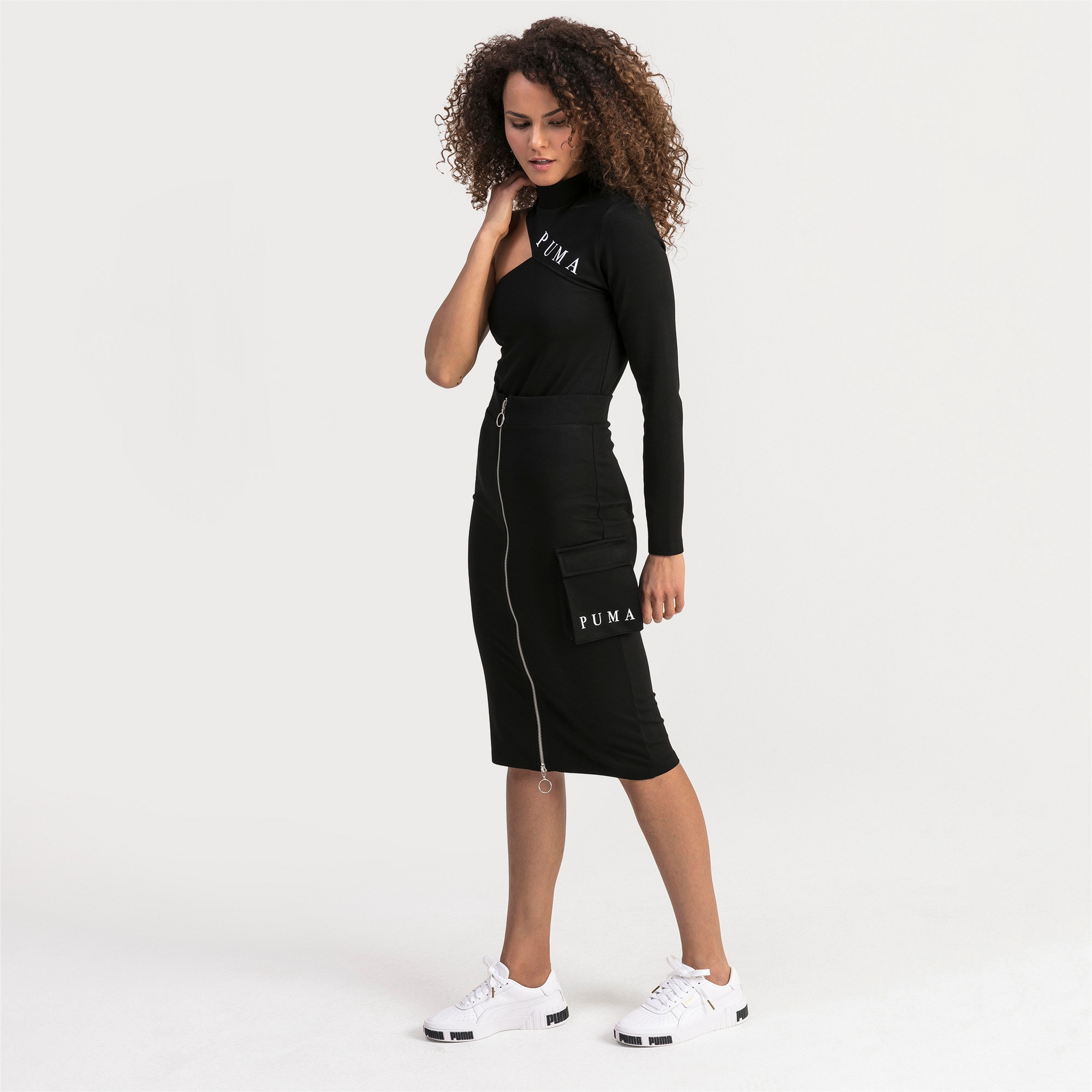 Thumbnail 1 of Damen Midi Rock, Puma Black, medium
