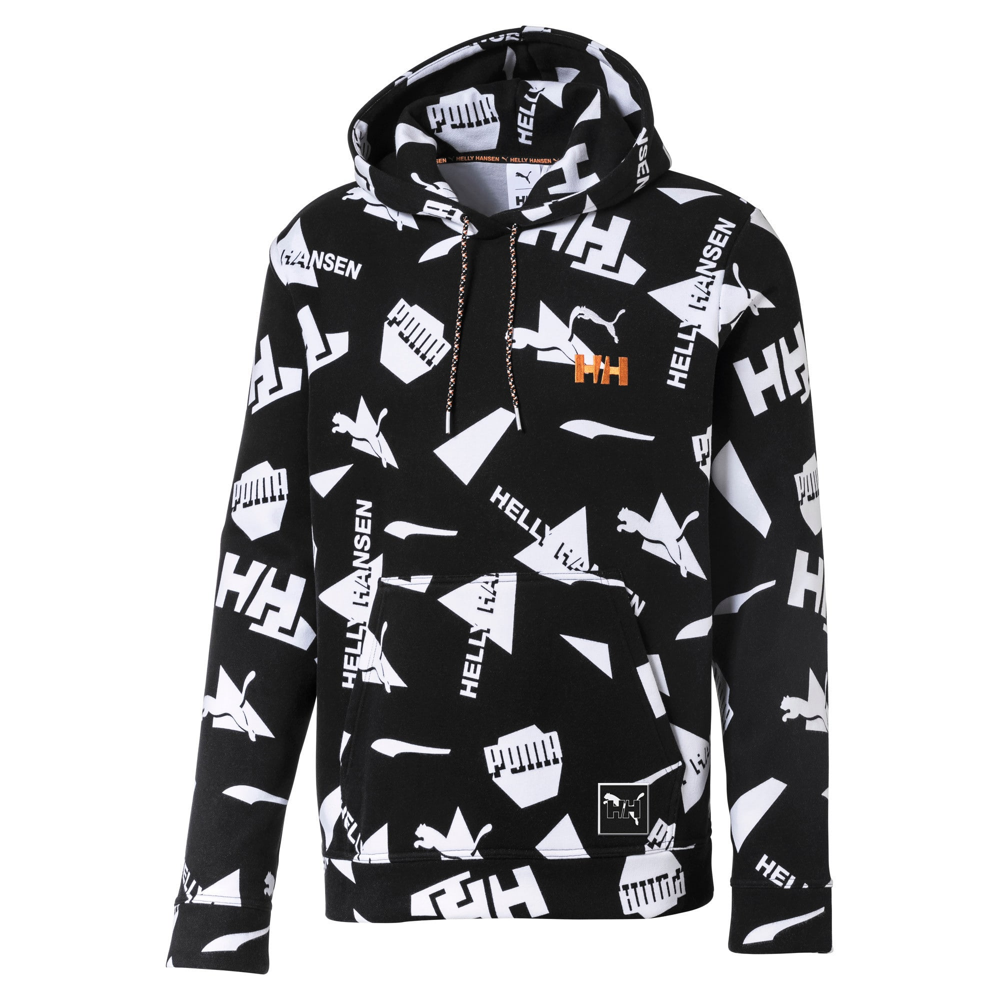 Thumbnail 1 of PUMA x HELLY HANSEN Allover-Print Hoodie, Puma Black, medium