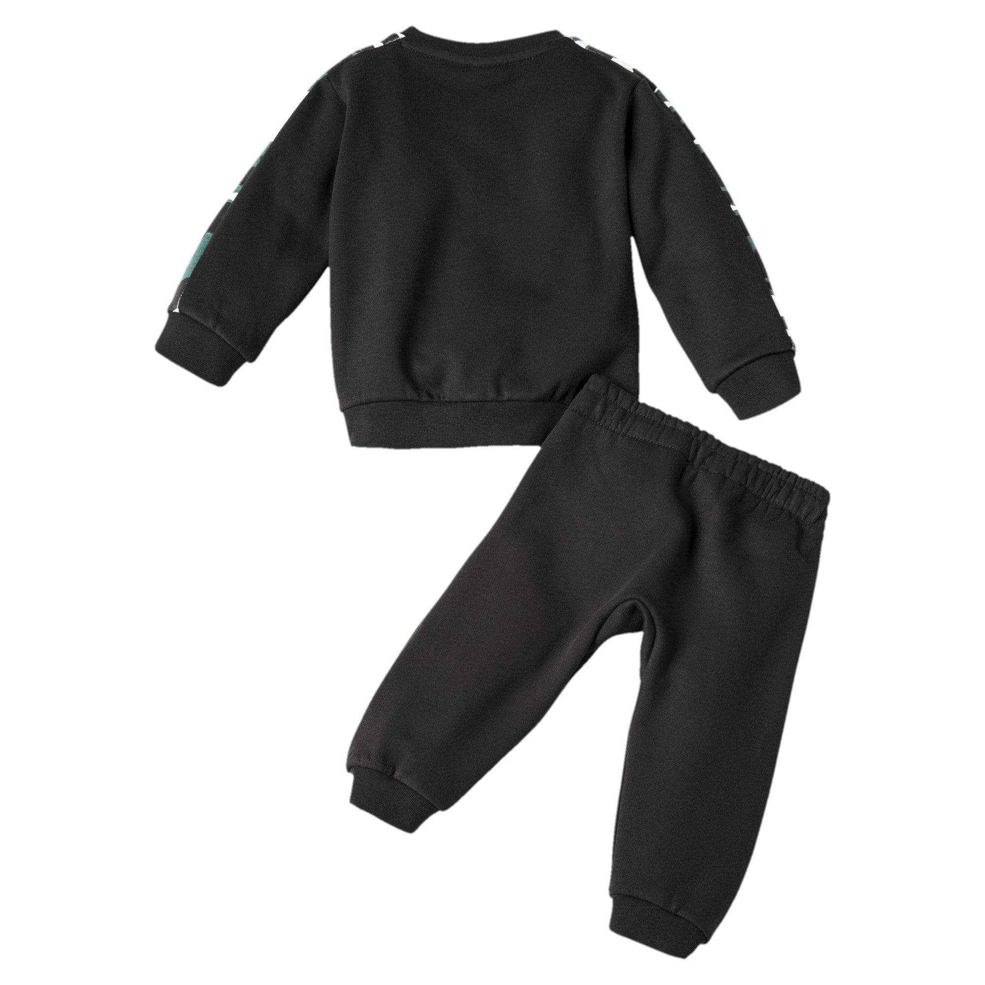 Thumbnail 2 of Street Wear T7 Babies' Jogger Set, Puma Black, medium