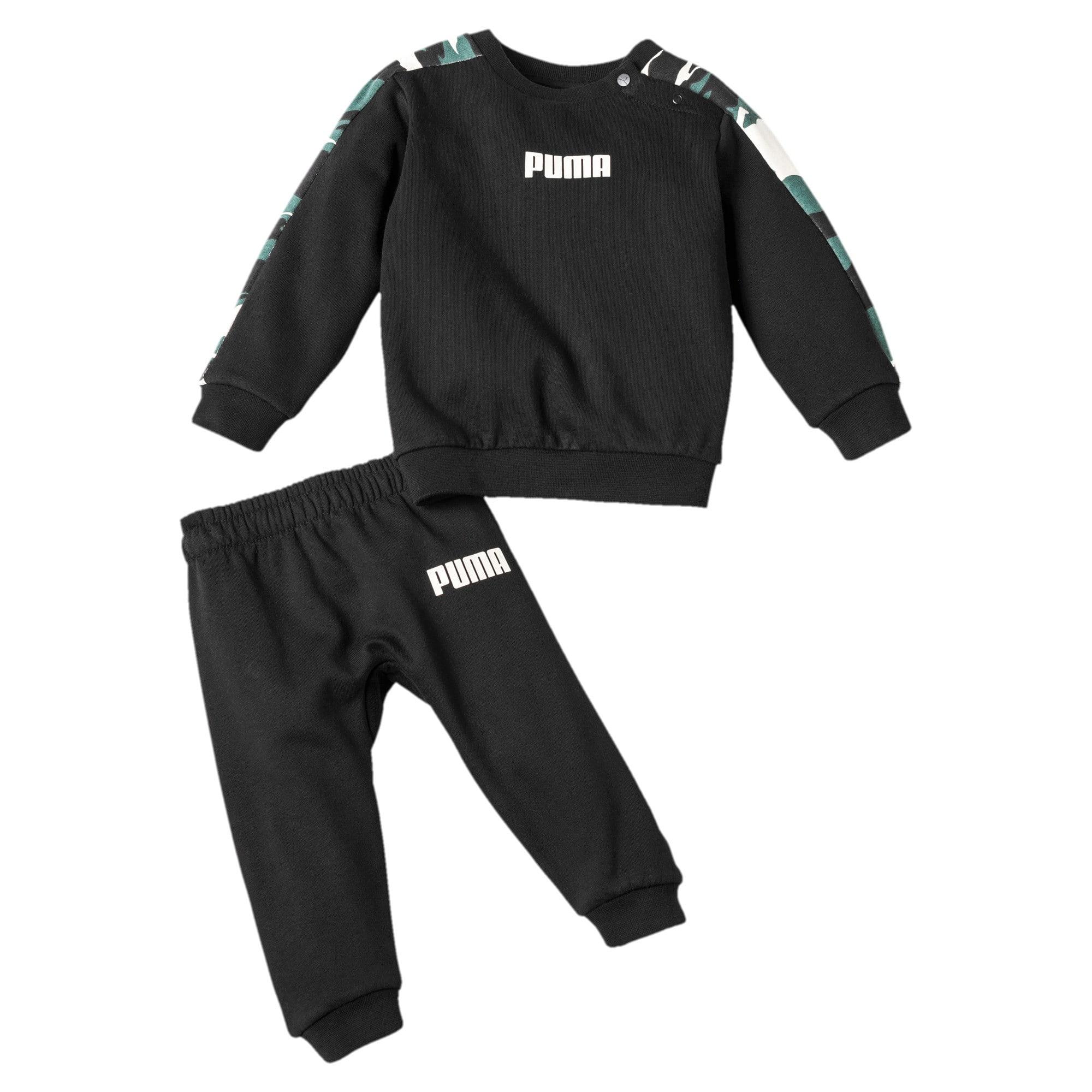 Thumbnail 1 of Street Wear T7 Babies' Jogger Set, Puma Black, medium