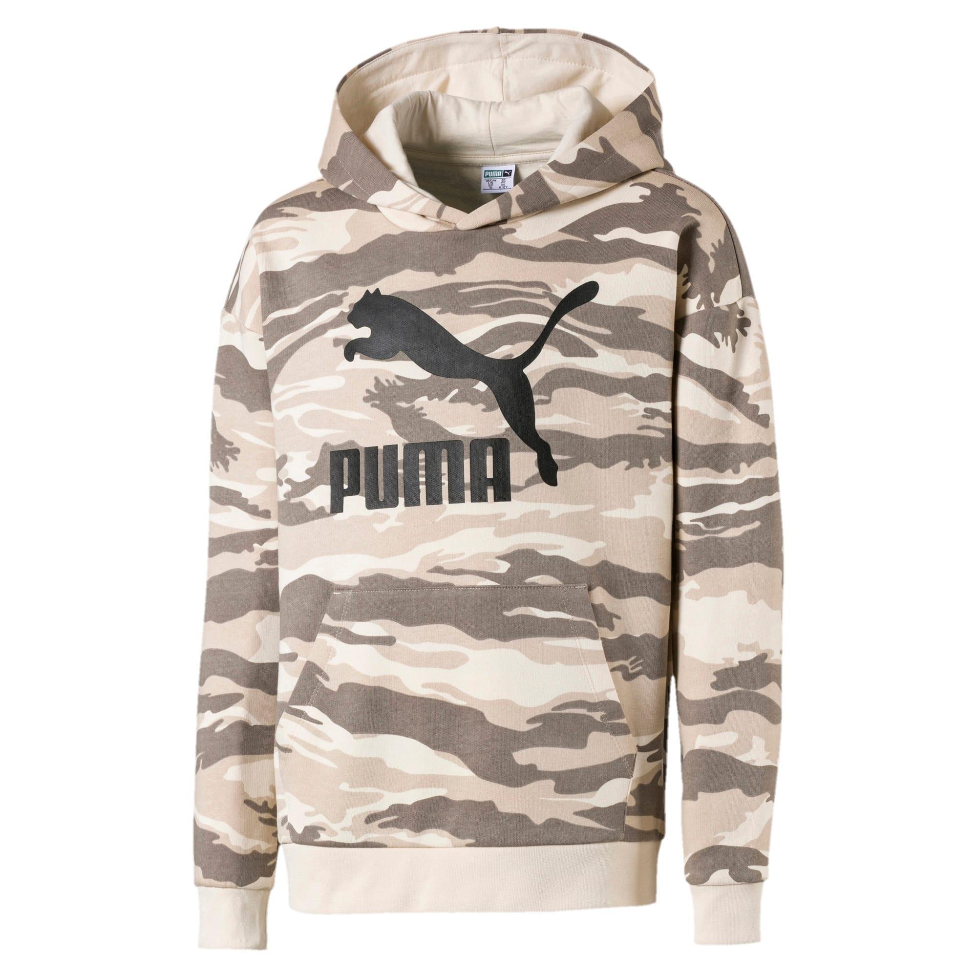Thumbnail 1 of Streetwear hoodie met camouflage voor kinderen, White Swan-AOP, medium