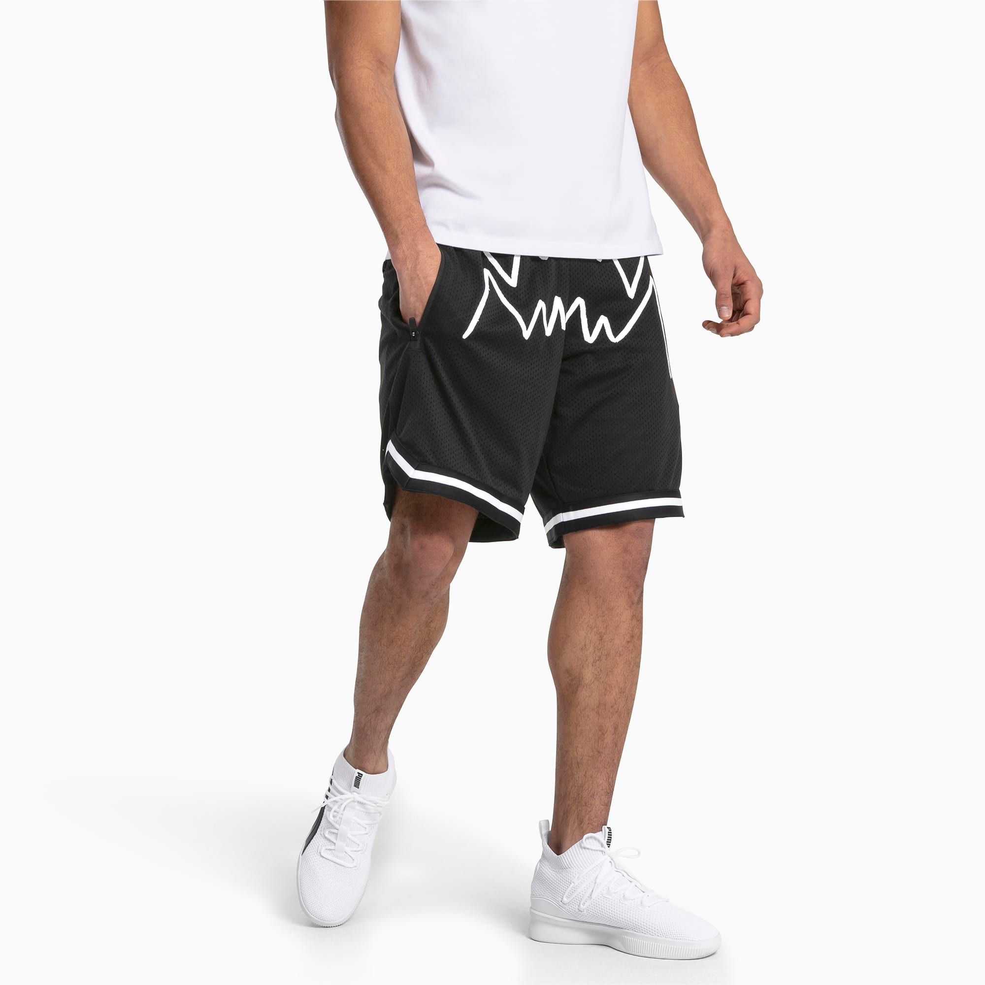 2 Pack Black Mesh Basketball Shorts Mens Athletic Shorts Gym Shorts for Workout Sport with Pockets Above The Rim