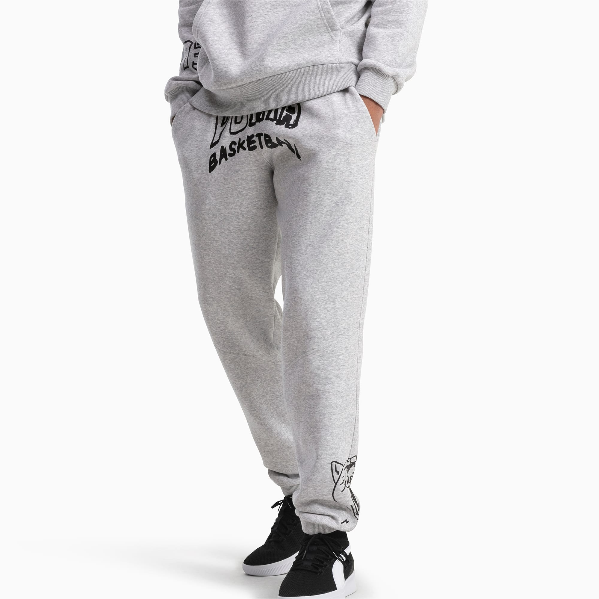 Court Herren Fleece Sweatpants | Light Gray Heather | PUMA