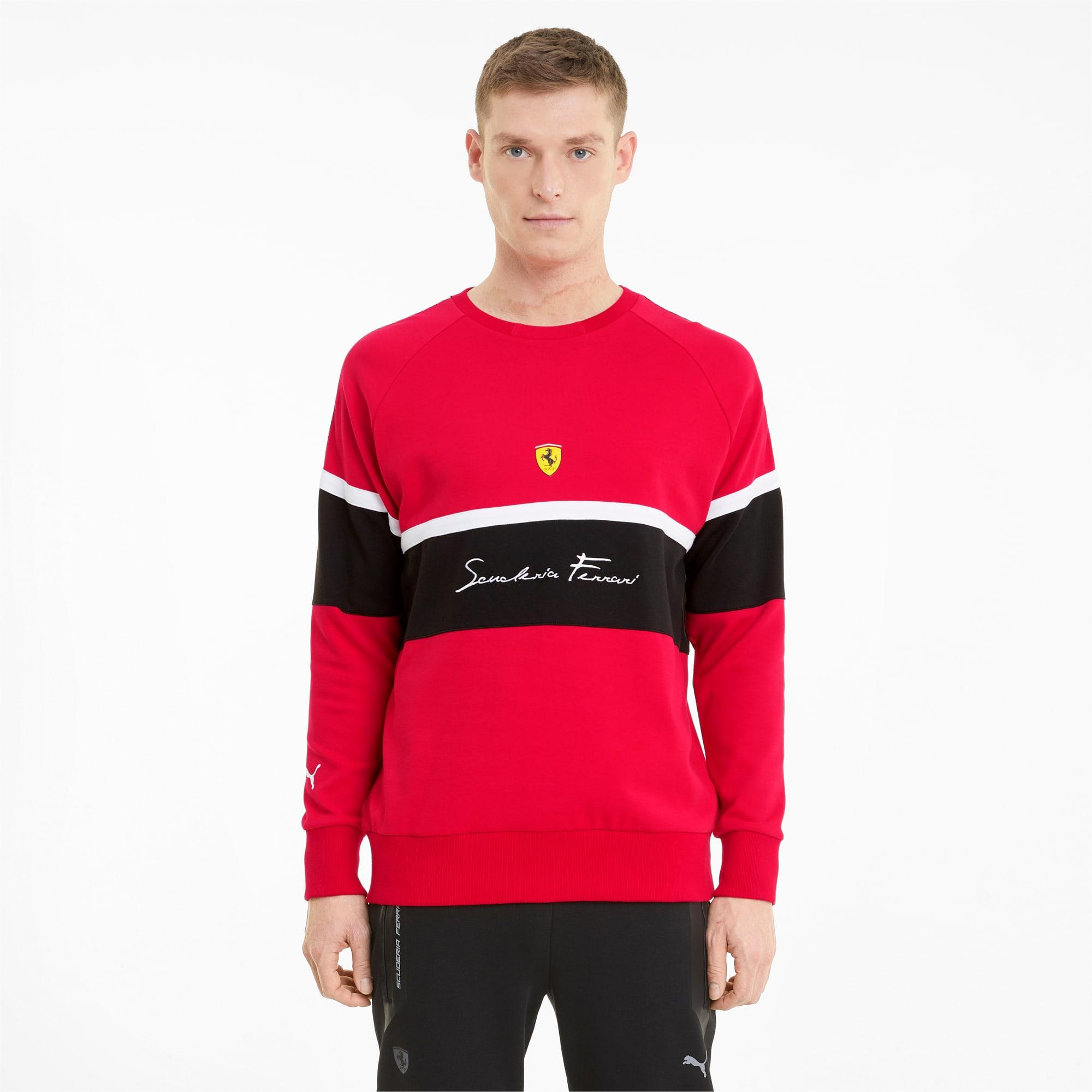 Scuderia Ferrari Herren Sweatshirt Mit Rundhalsausschnitt Rosso Corsa Puma Herren Kollektion Puma Deutschland