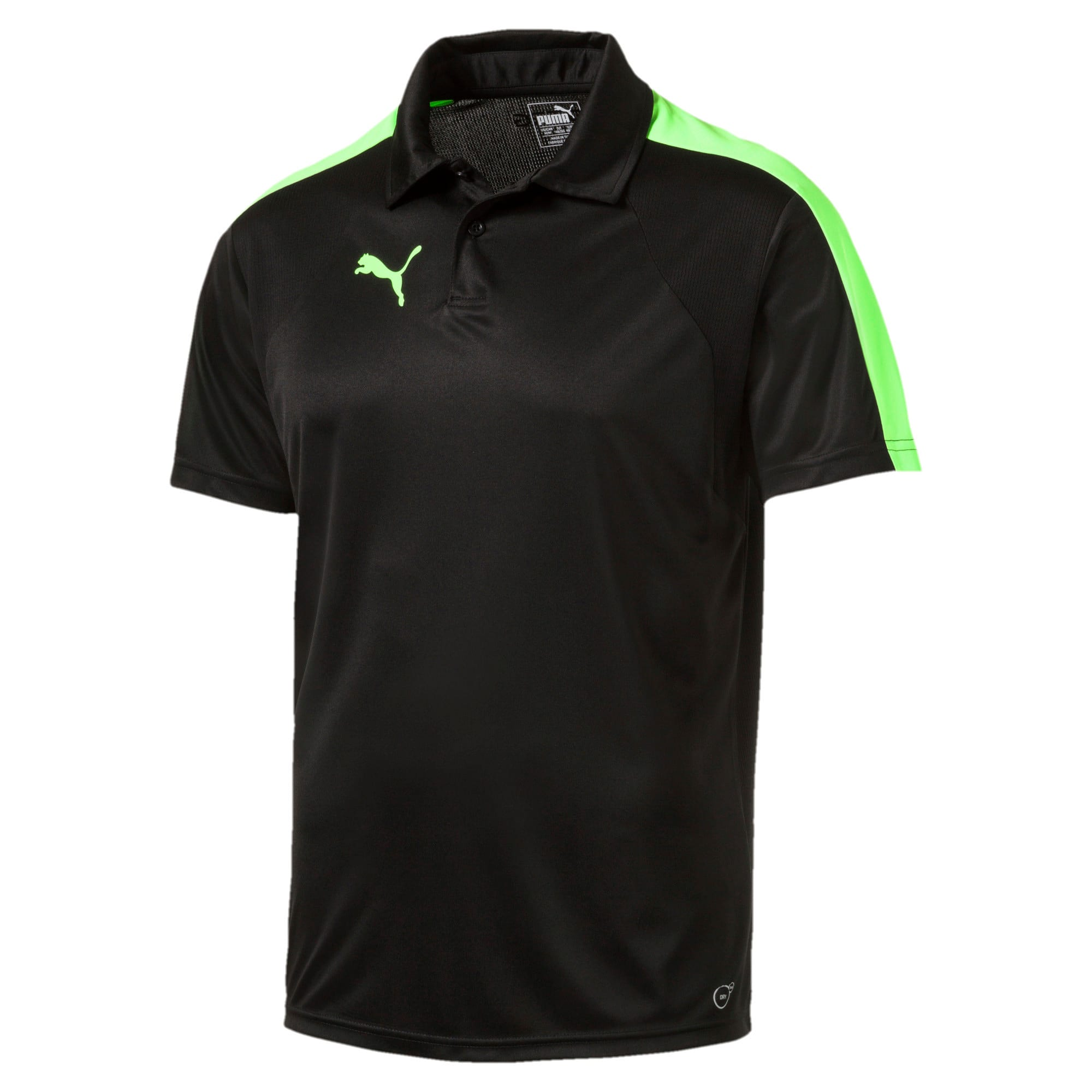 Thumbnail 4 of IT evoTRG Polo, Puma Black-Green Gecko, medium-IND