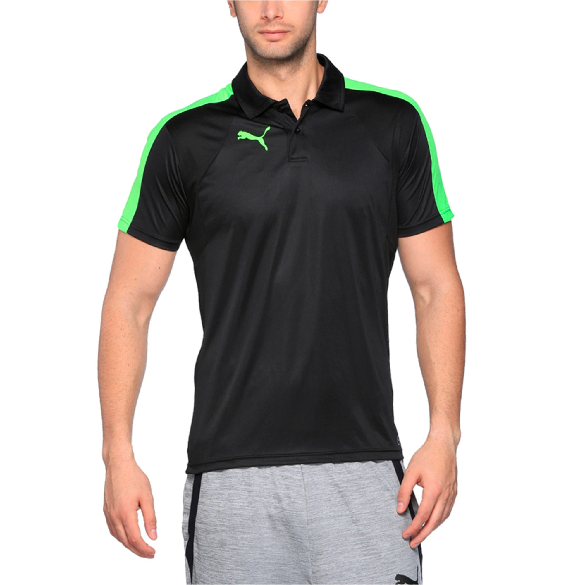 Thumbnail 1 of IT evoTRG Polo, Puma Black-Green Gecko, medium-IND