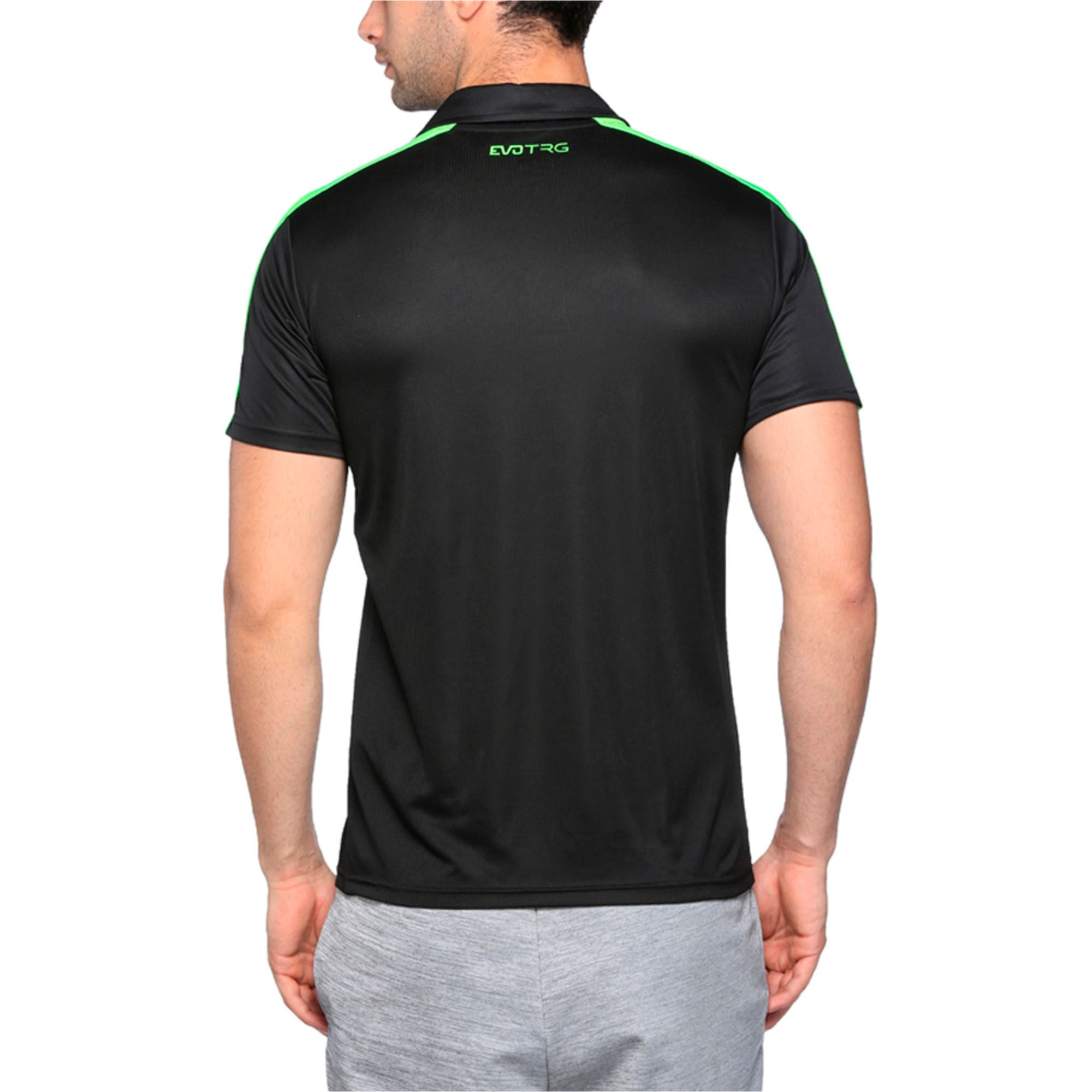 Thumbnail 2 of IT evoTRG Polo, Puma Black-Green Gecko, medium-IND