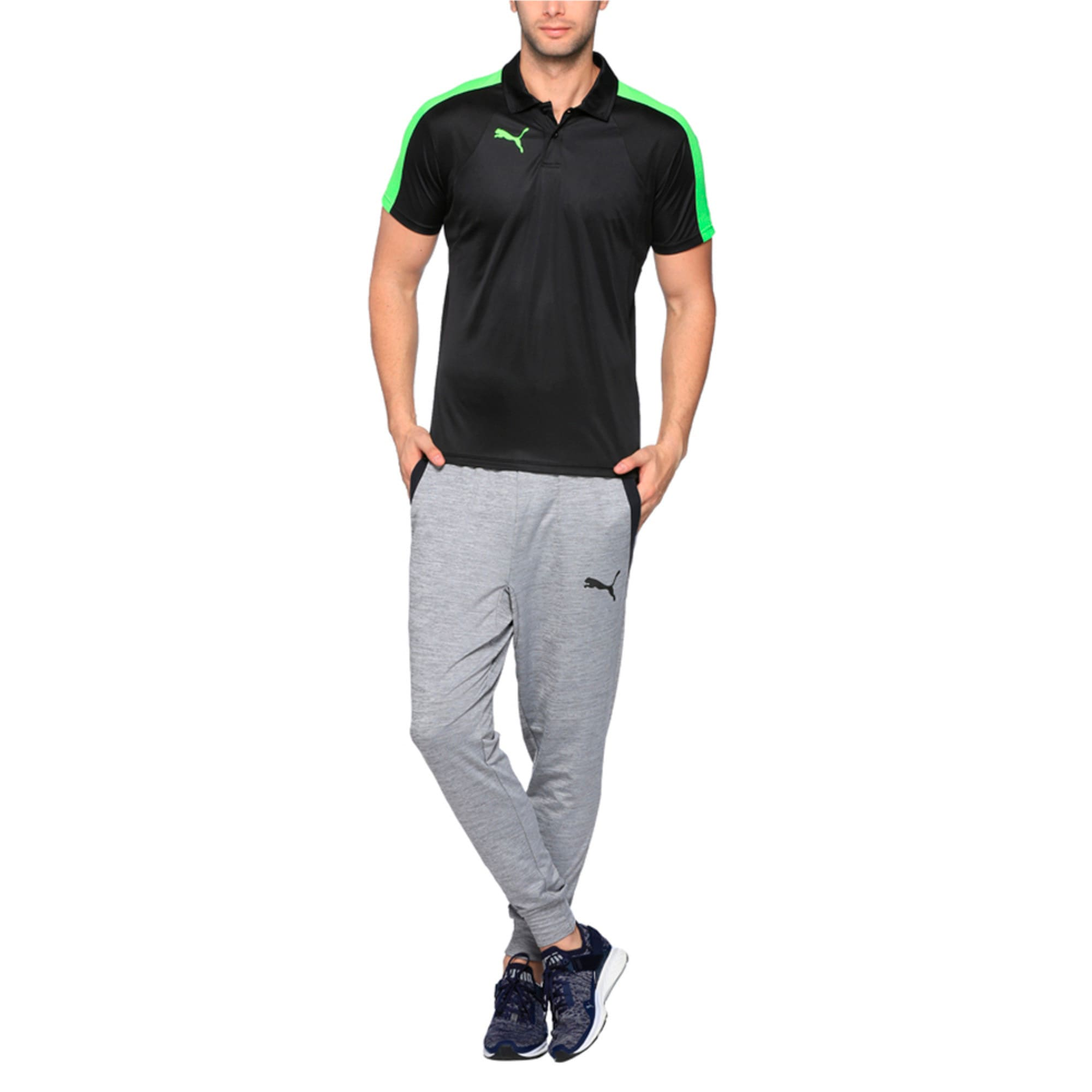 Thumbnail 3 of IT evoTRG Polo, Puma Black-Green Gecko, medium-IND