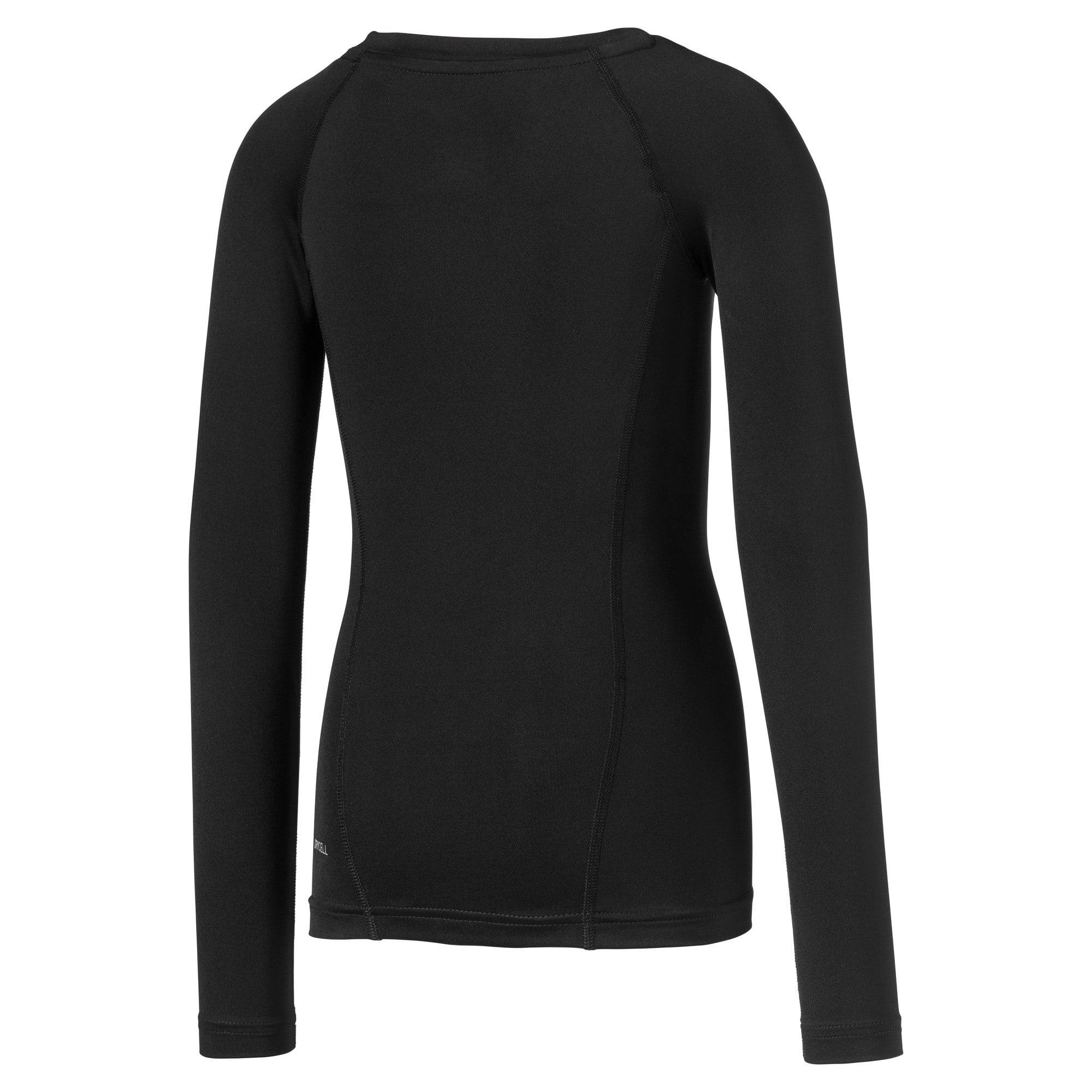 Thumbnail 2 van LIGA Baselayer T-shirt met lange mouwen voor kinderen, Puma Black, medium