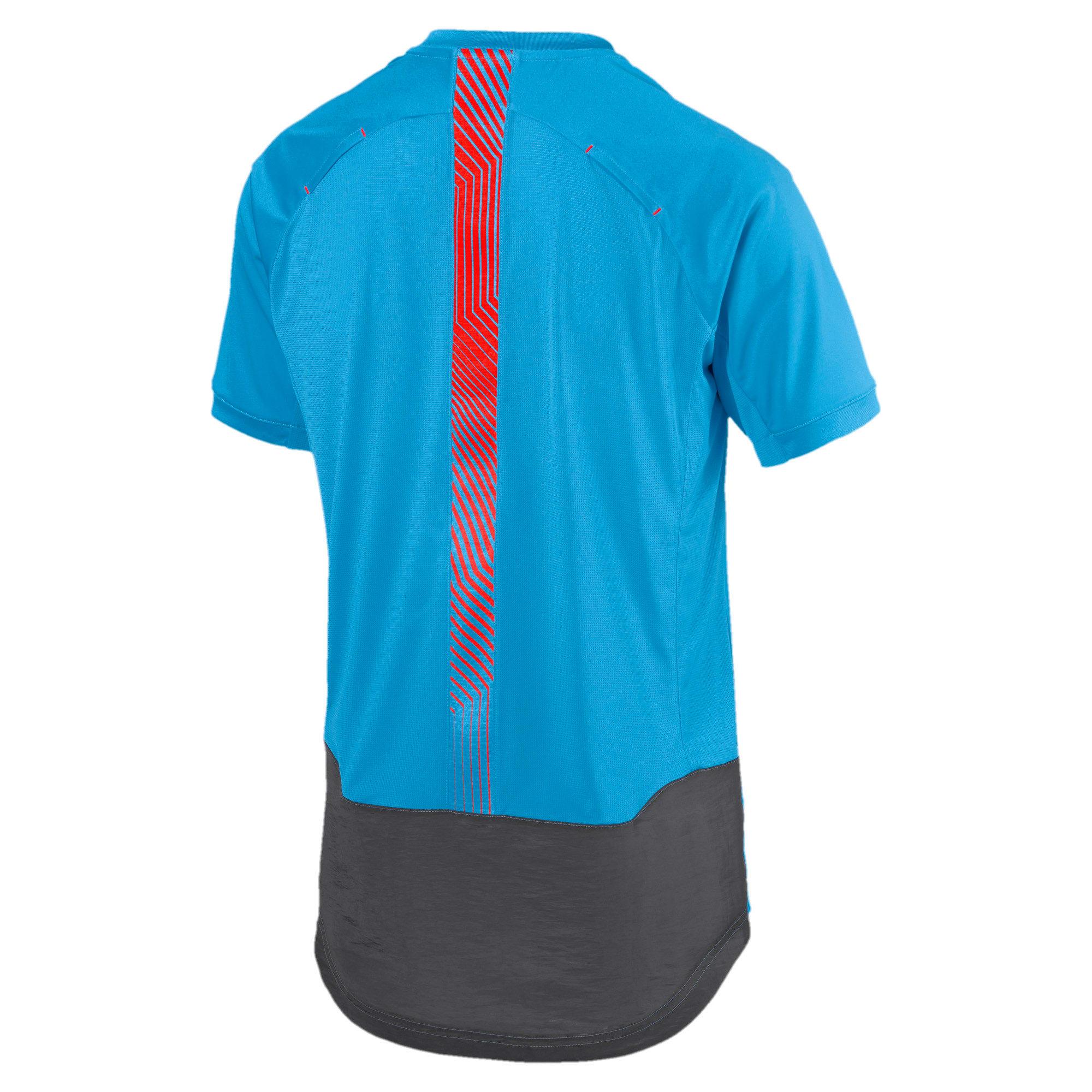 Thumbnail 5 of ftblNXT Pro Men's Training Top, Bleu Azur-Red Blast, medium