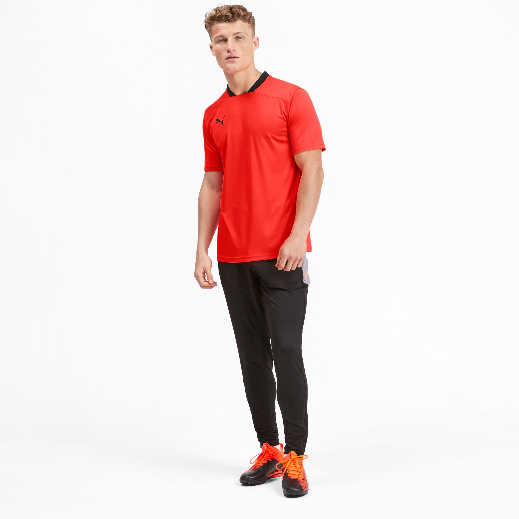 Thumbnail 3 of Herren T-Shirt, Nrgy Red-Puma Black, medium