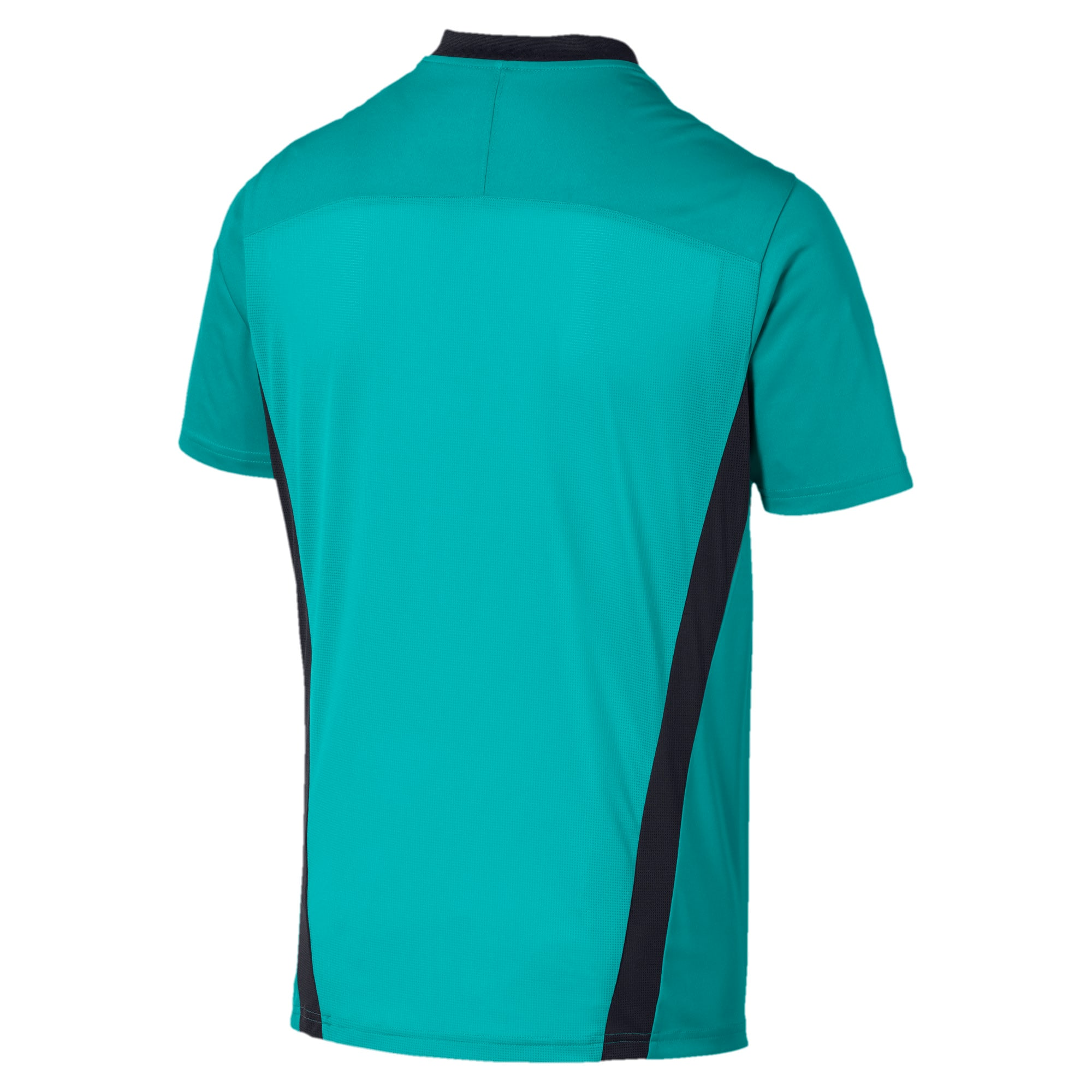 Thumbnail 5 of Men's Training Tee, Blue Turquoise-Ebony, medium