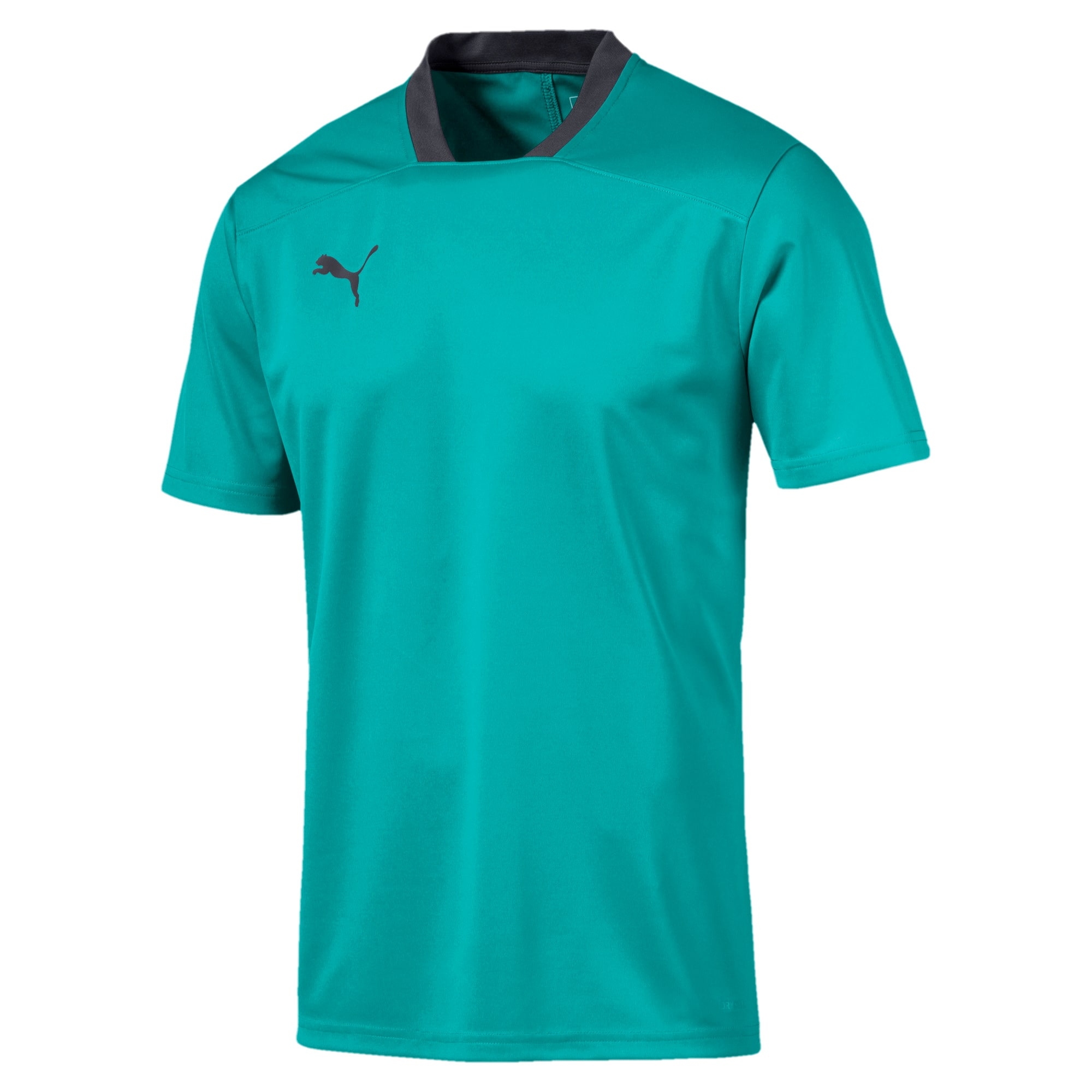 Thumbnail 4 of Men's Training Tee, Blue Turquoise-Ebony, medium