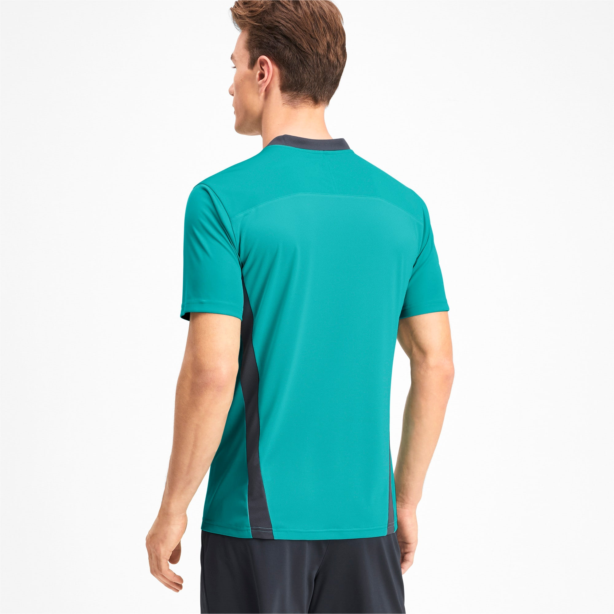 Thumbnail 2 of Men's Training Tee, Blue Turquoise-Ebony, medium
