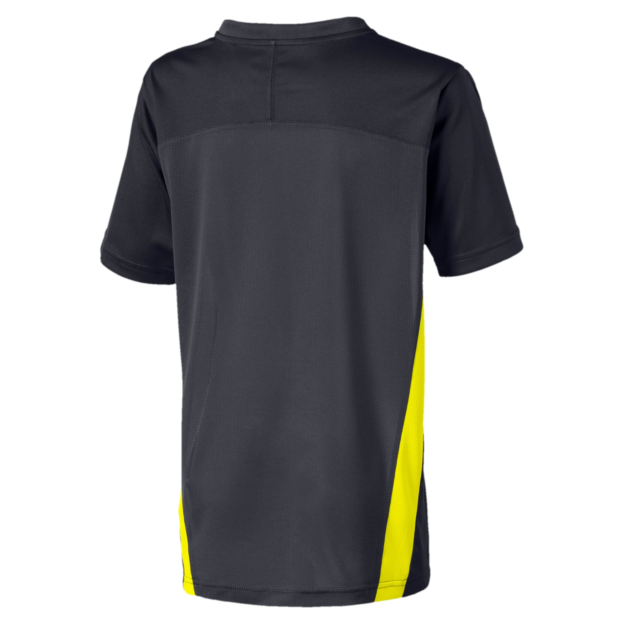 ftblNXT Boys' Training Tee, Ebony-Yellow Alert, large