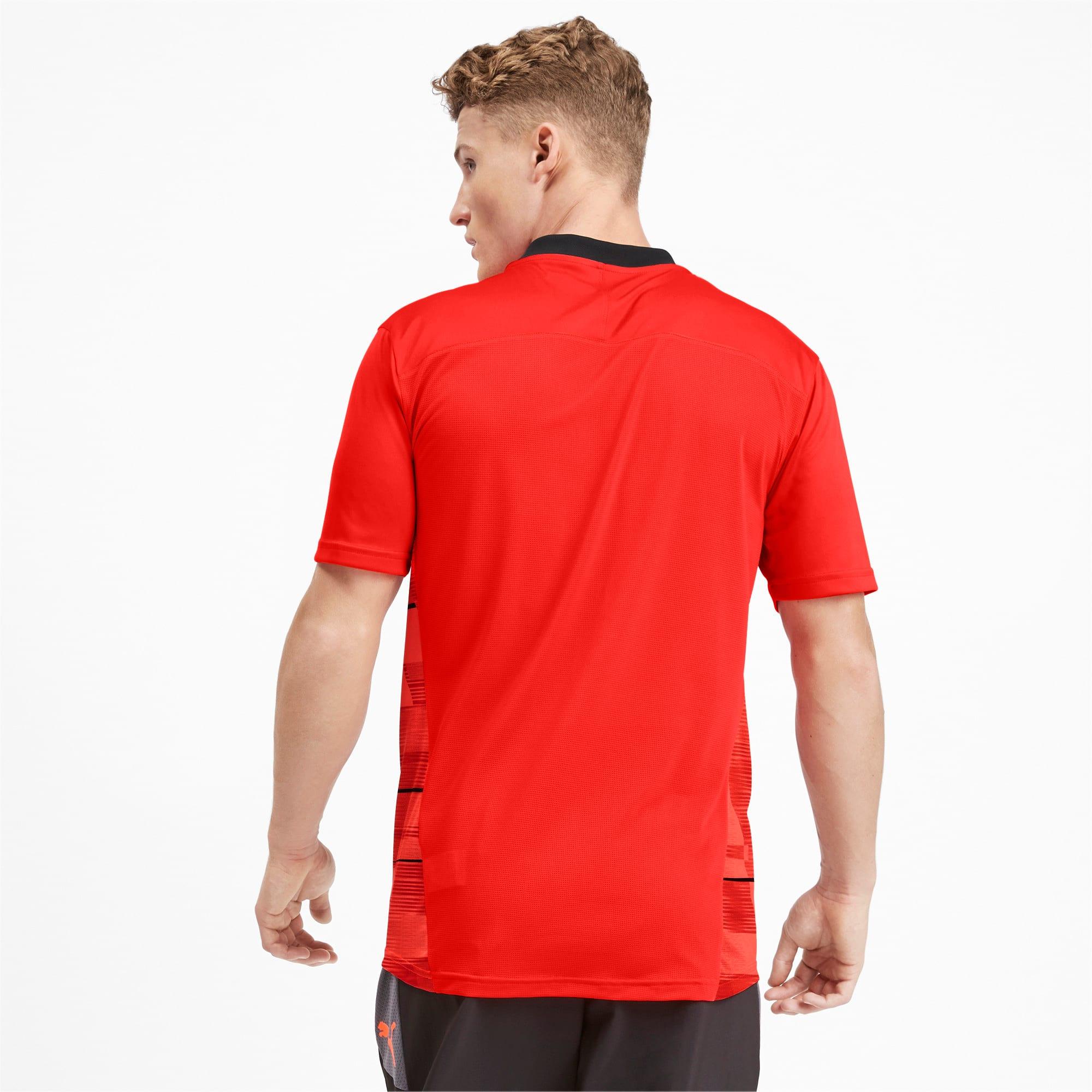 Thumbnail 2 of ftblNXT Men's Graphic Shirt, Nrgy Red-Puma Black, medium