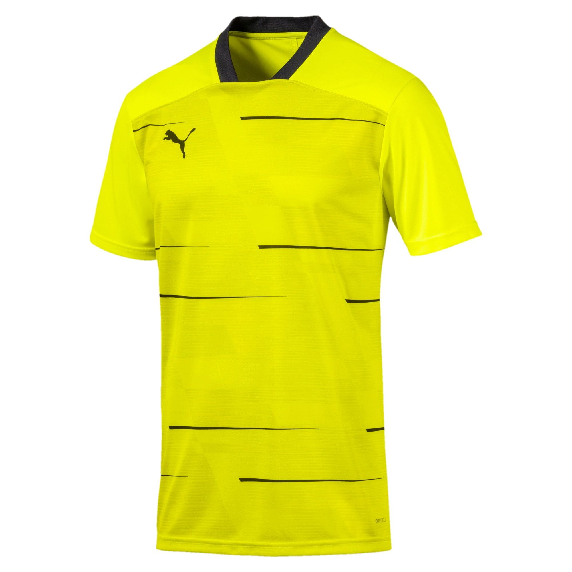 Thumbnail 4 of ftblNXT Men's Graphic Shirt, Yellow Alert-Grey Dawn, medium