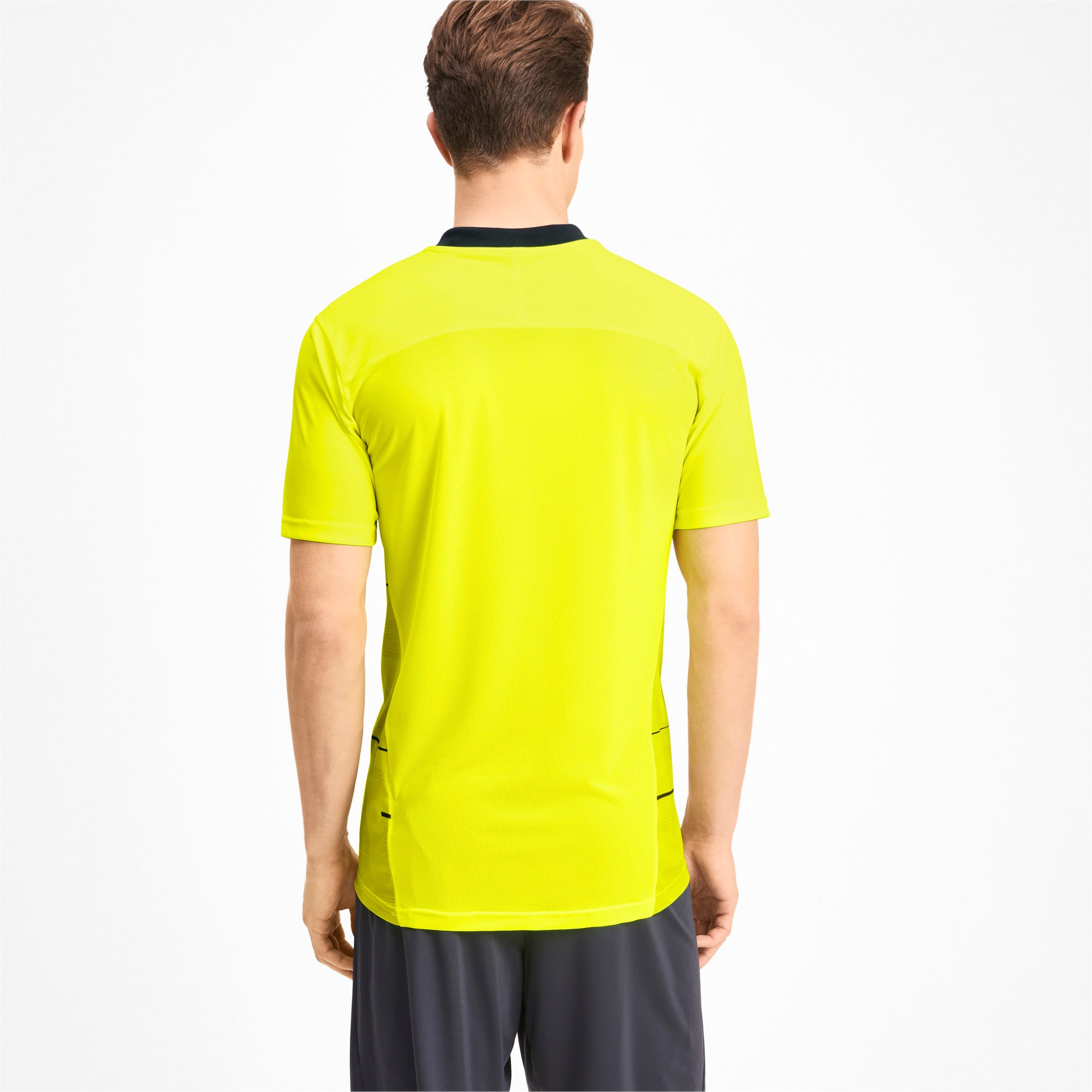 Thumbnail 2 of Graphic Men's Tee, Yellow Alert-Grey Dawn, medium
