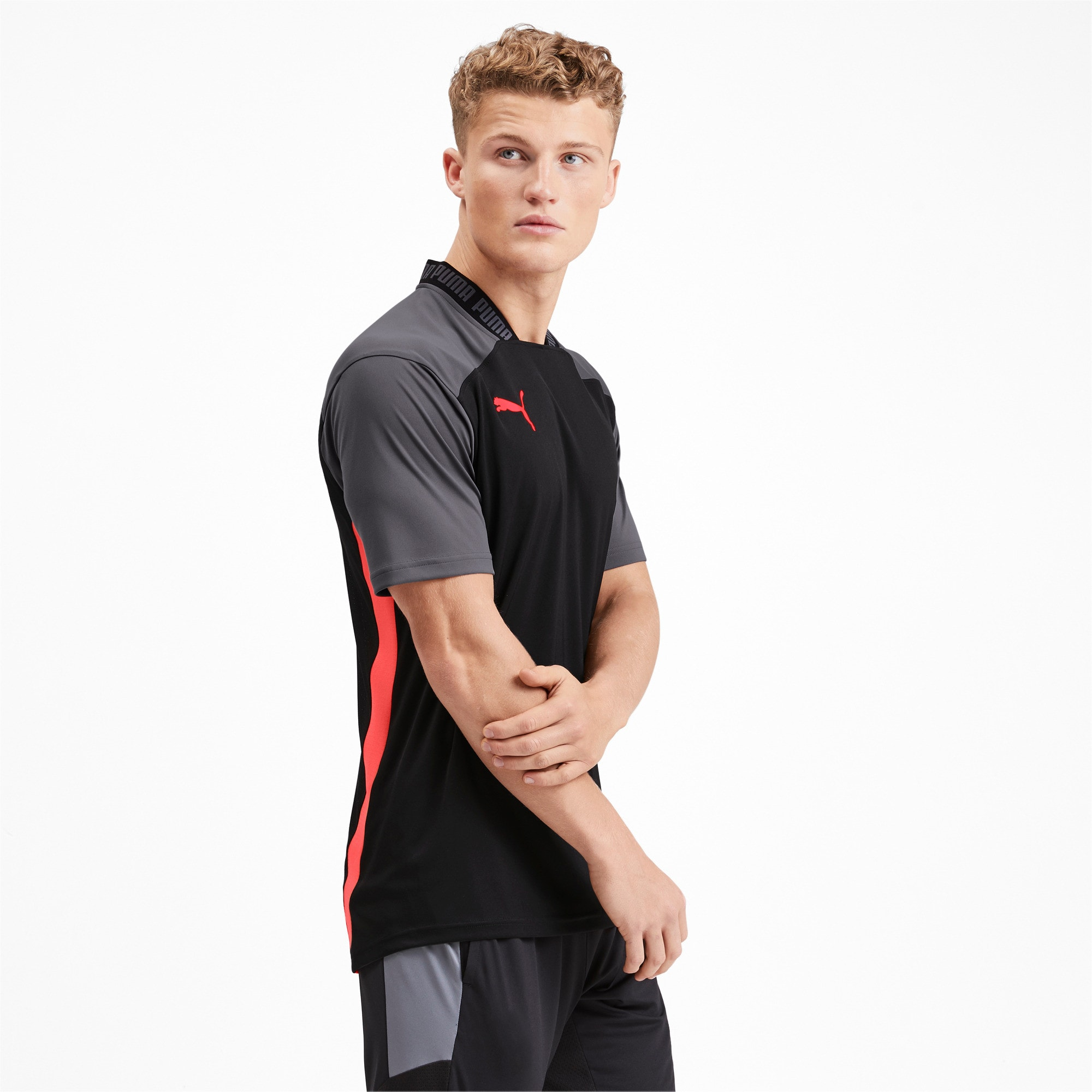 Thumbnail 1 of Pro T-shirt voor heren, Puma Black-Nrgy Red, medium
