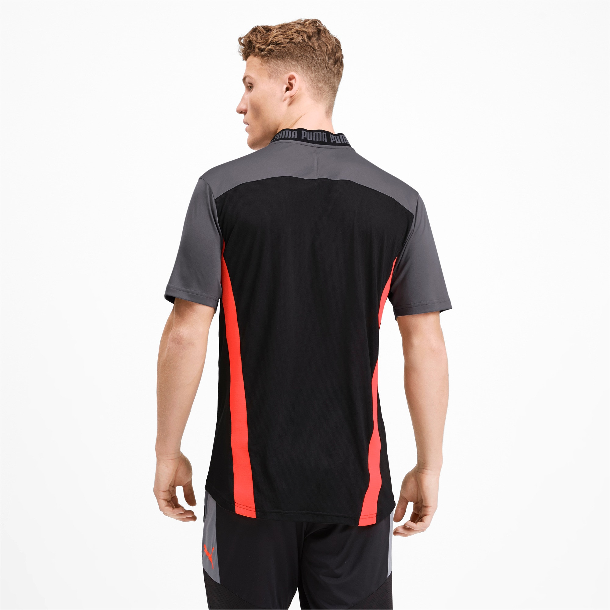Thumbnail 2 of Pro T-shirt voor heren, Puma Black-Nrgy Red, medium