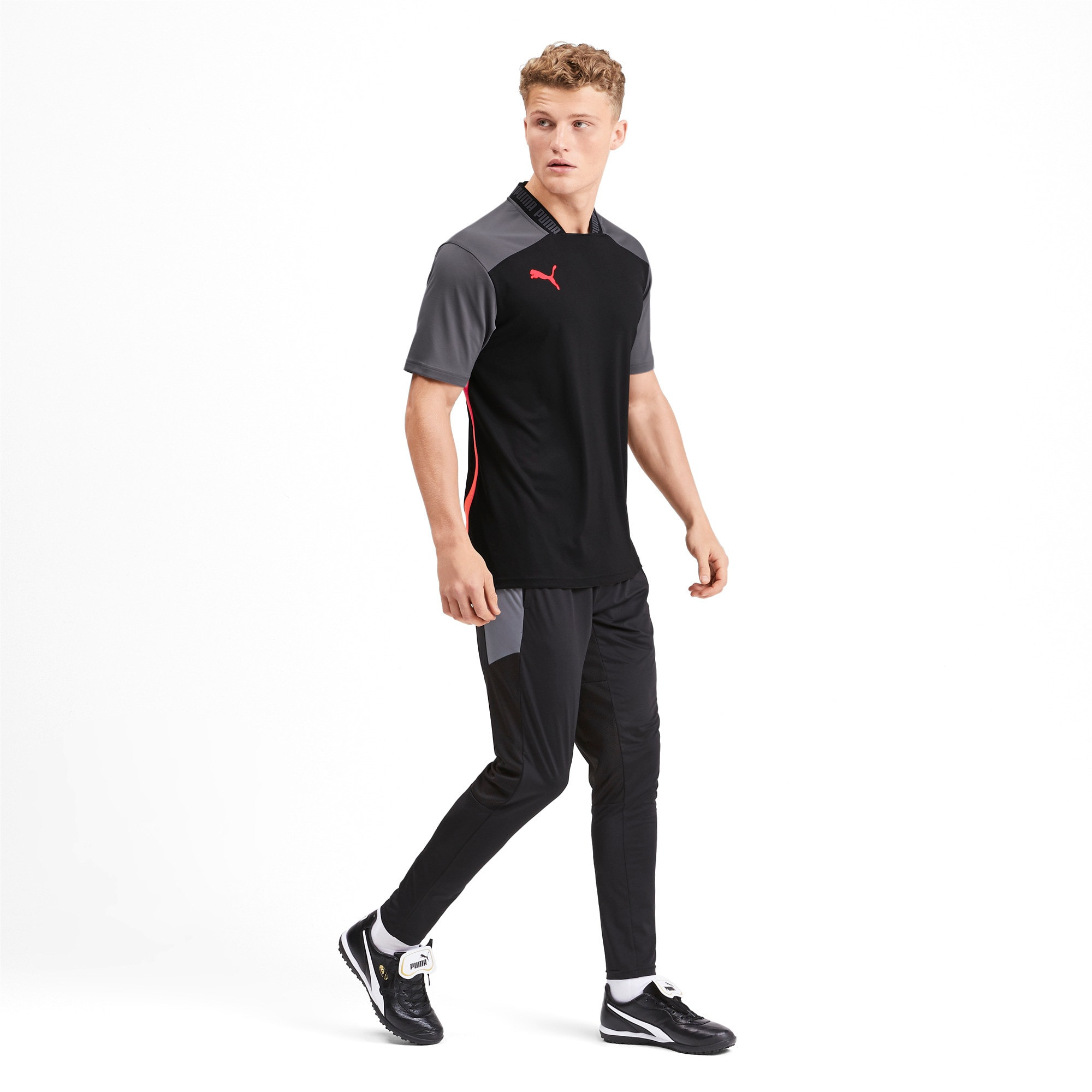 Thumbnail 3 of Pro T-shirt voor heren, Puma Black-Nrgy Red, medium