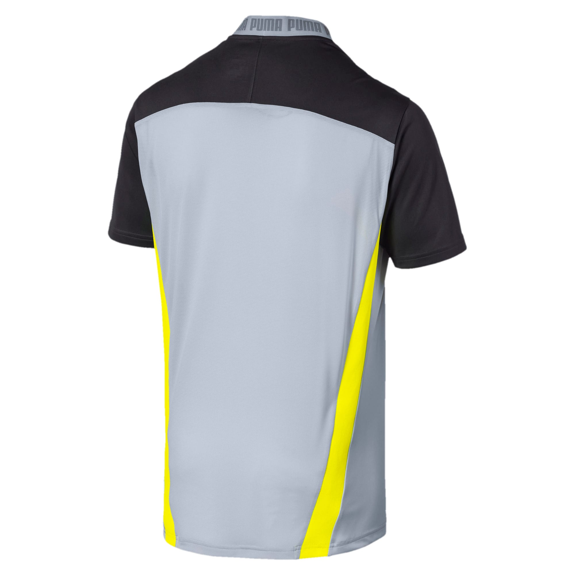Thumbnail 5 of T-Shirt Pro pour homme, Grey Dawn-Yellow Alert, medium