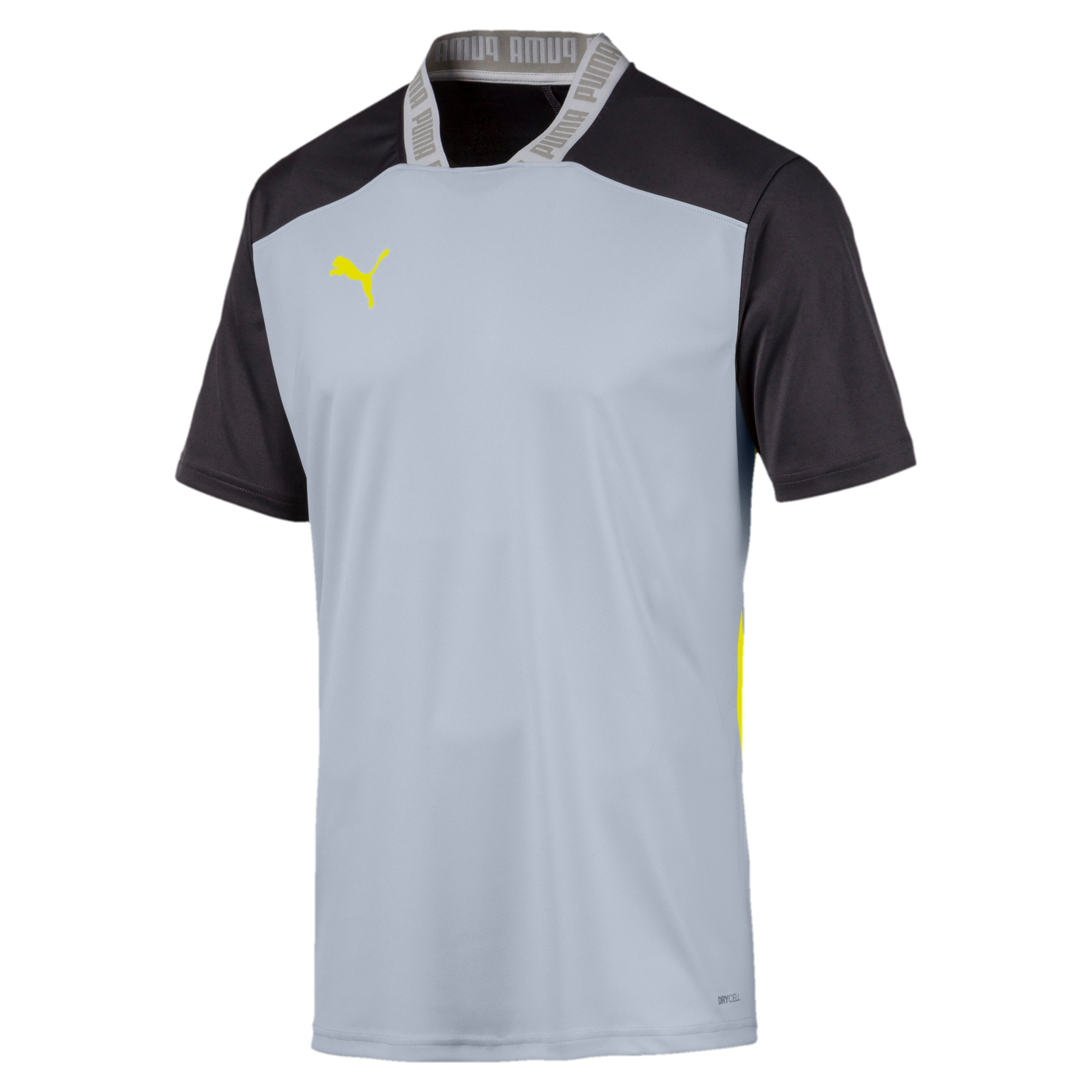 Thumbnail 4 of T-Shirt Pro pour homme, Grey Dawn-Yellow Alert, medium