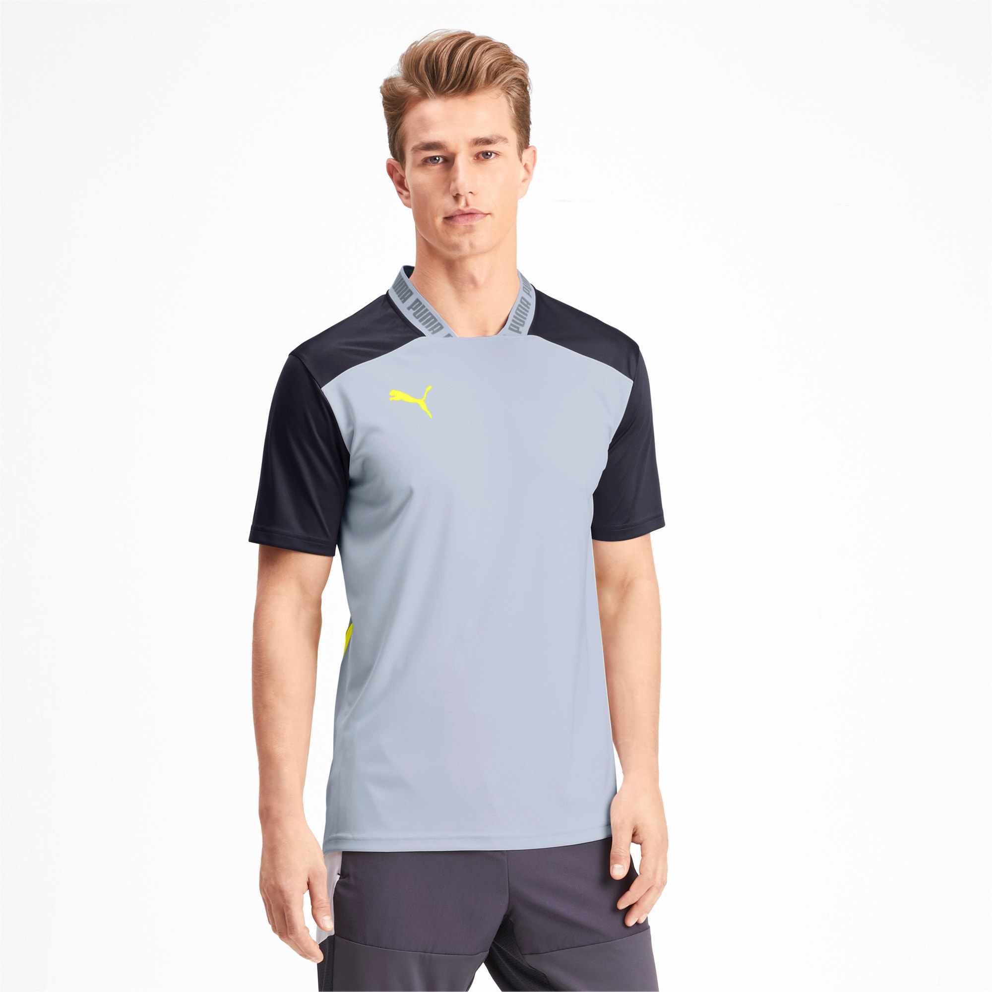 Thumbnail 1 of T-Shirt Pro pour homme, Grey Dawn-Yellow Alert, medium