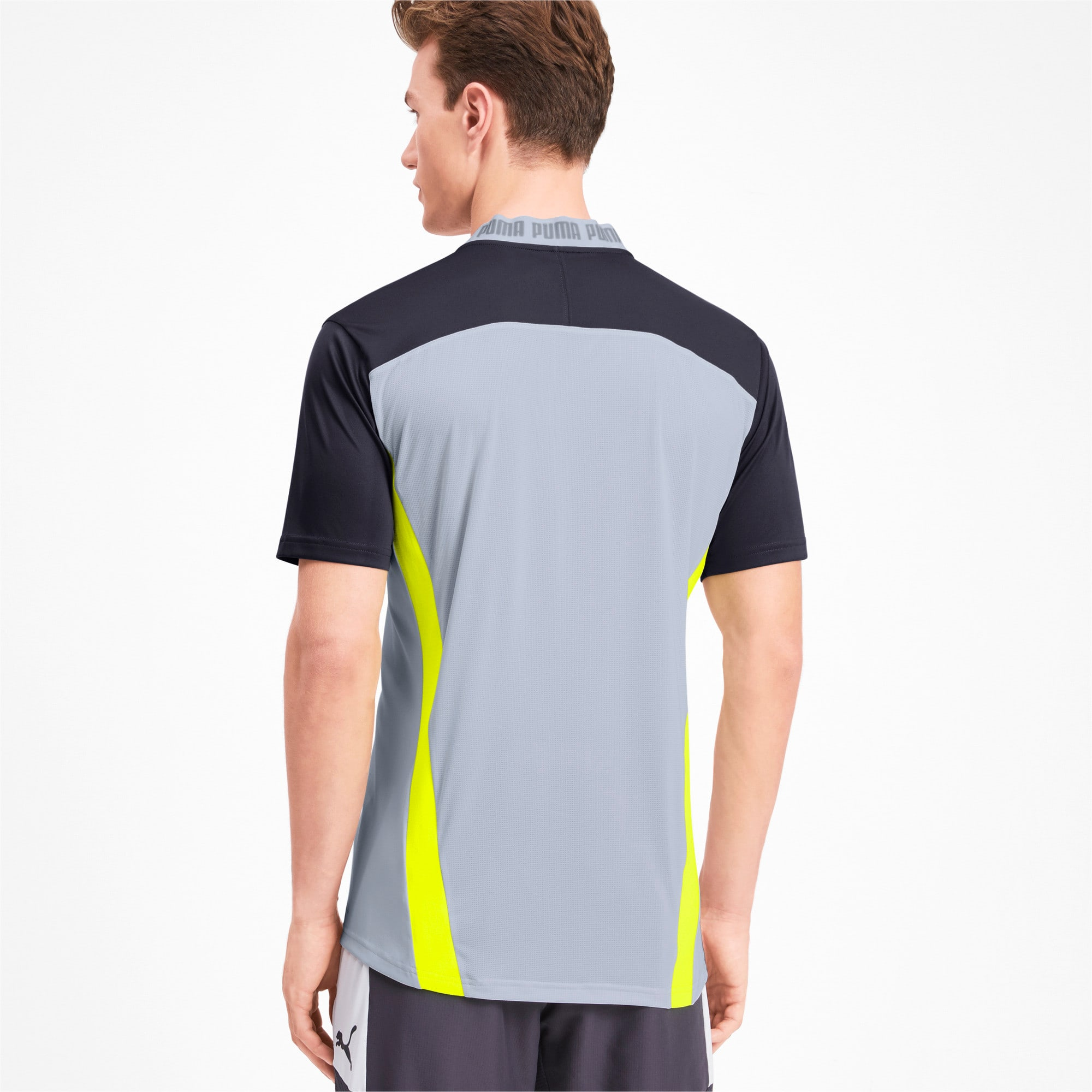 Thumbnail 2 of T-Shirt Pro pour homme, Grey Dawn-Yellow Alert, medium