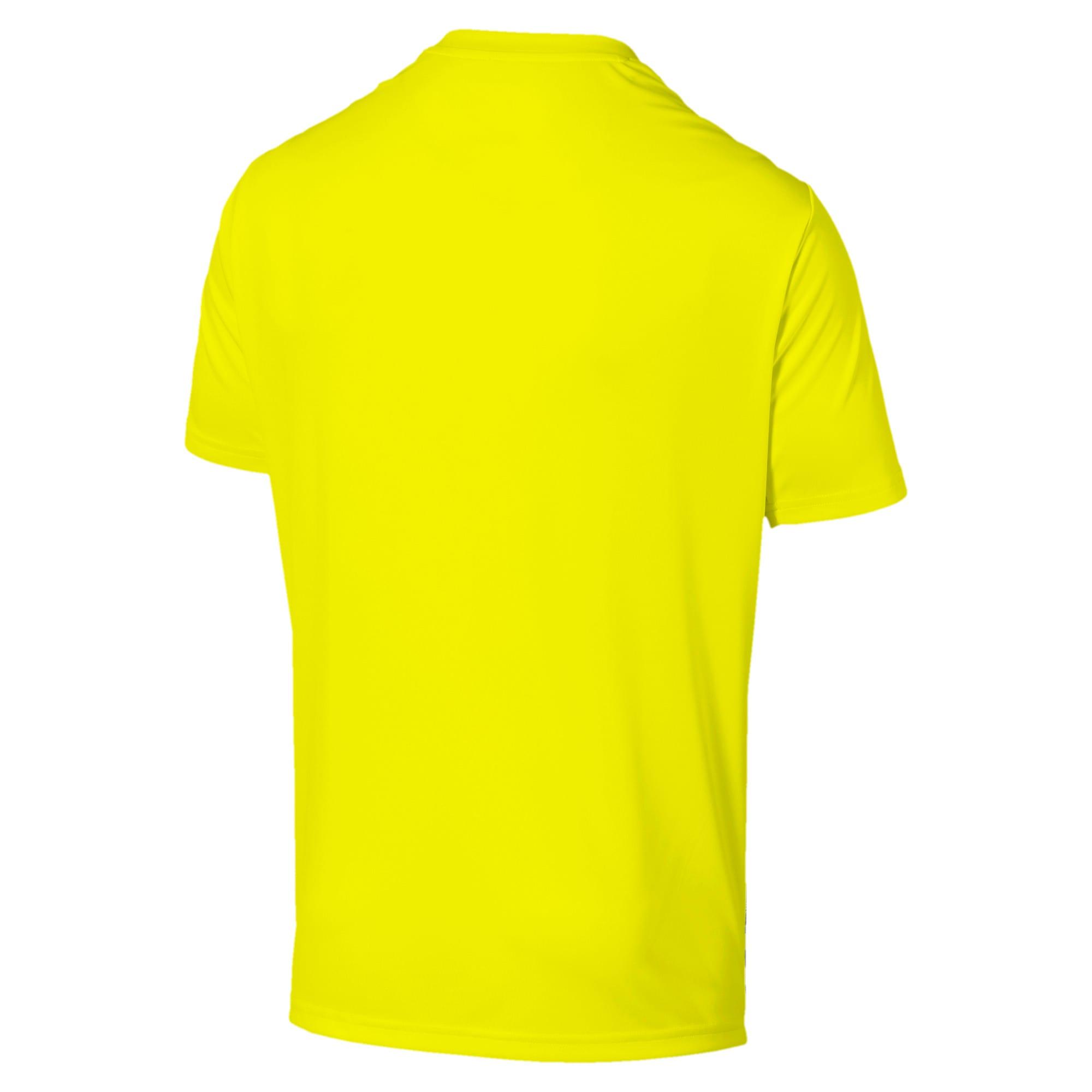 Thumbnail 5 of Core shirt met print voor heren, Yellow Alert-Grey Dawn, medium