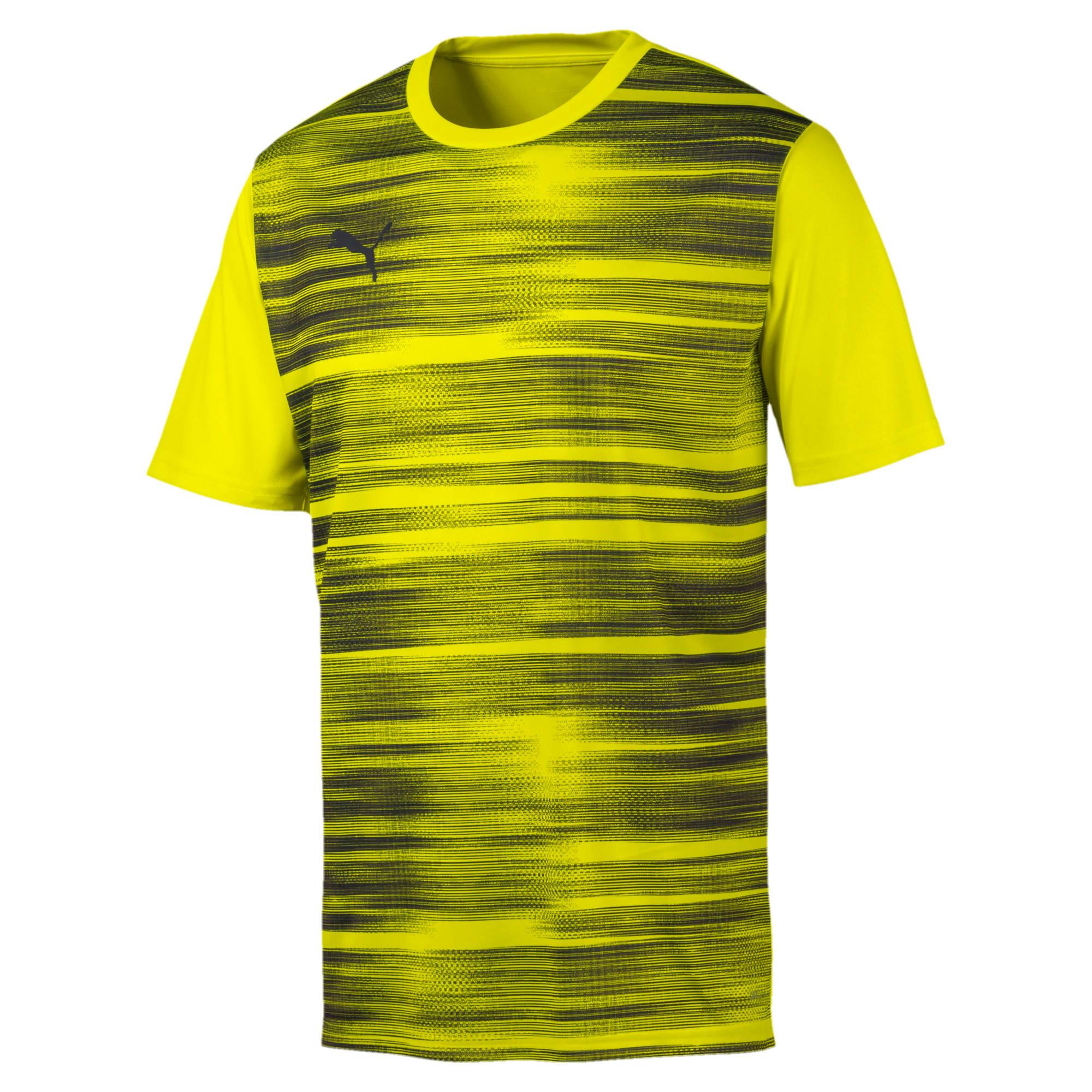 Thumbnail 4 of Core shirt met print voor heren, Yellow Alert-Grey Dawn, medium
