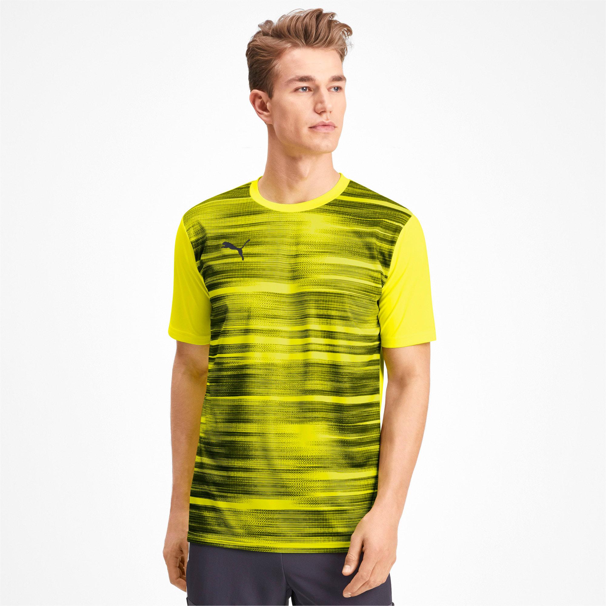 Thumbnail 1 of Core shirt met print voor heren, Yellow Alert-Grey Dawn, medium