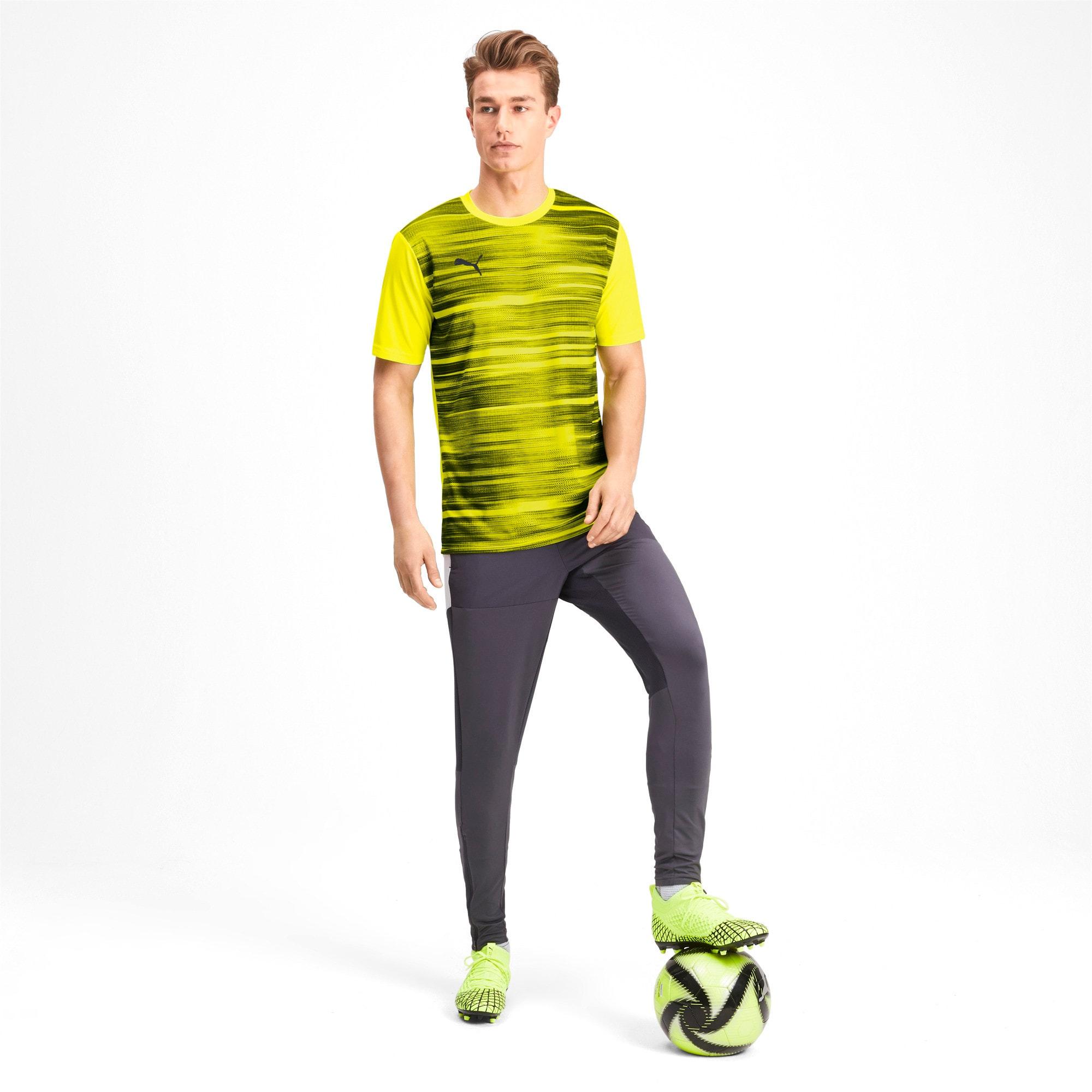 Thumbnail 3 of Core shirt met print voor heren, Yellow Alert-Grey Dawn, medium