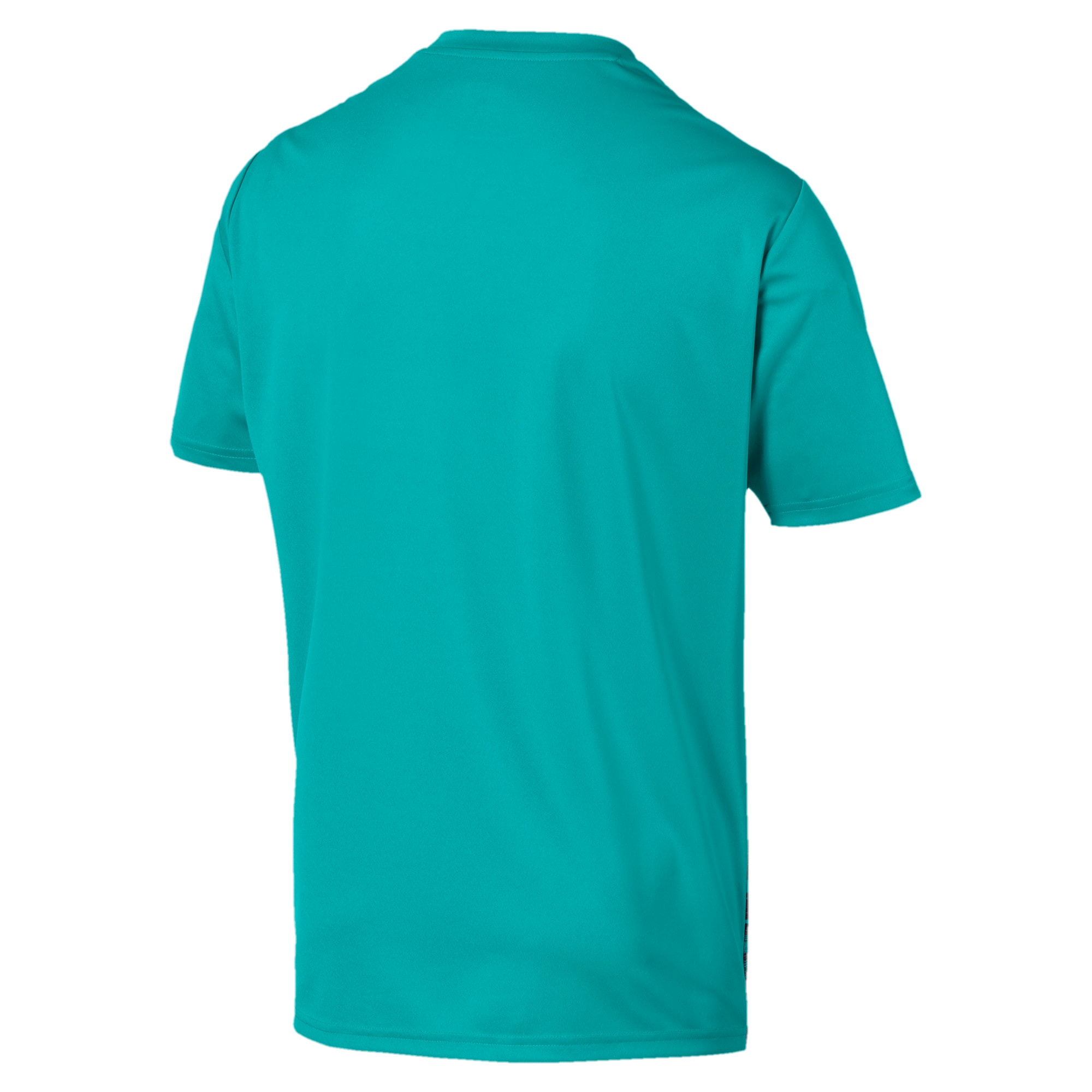 Thumbnail 5 of Core shirt met print voor heren, Blue Turquoise-Ebony, medium