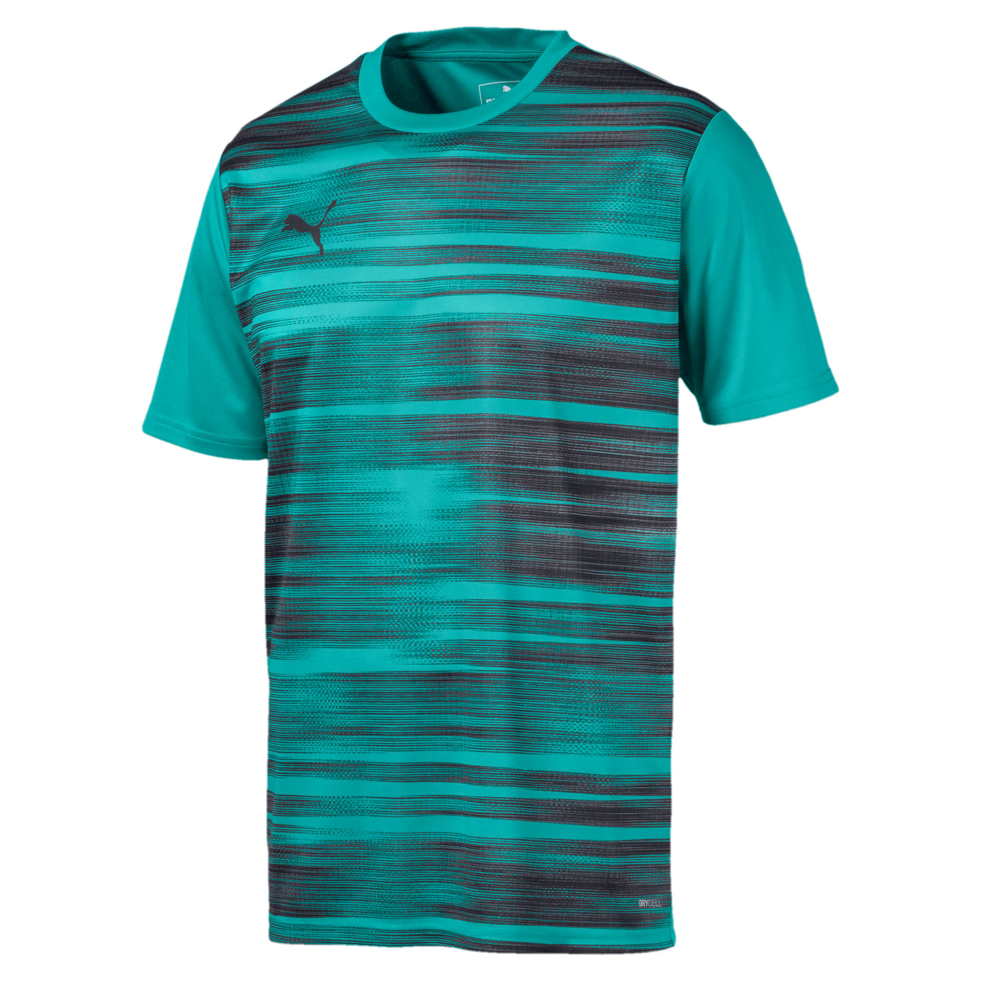 Thumbnail 4 of Core shirt met print voor heren, Blue Turquoise-Ebony, medium