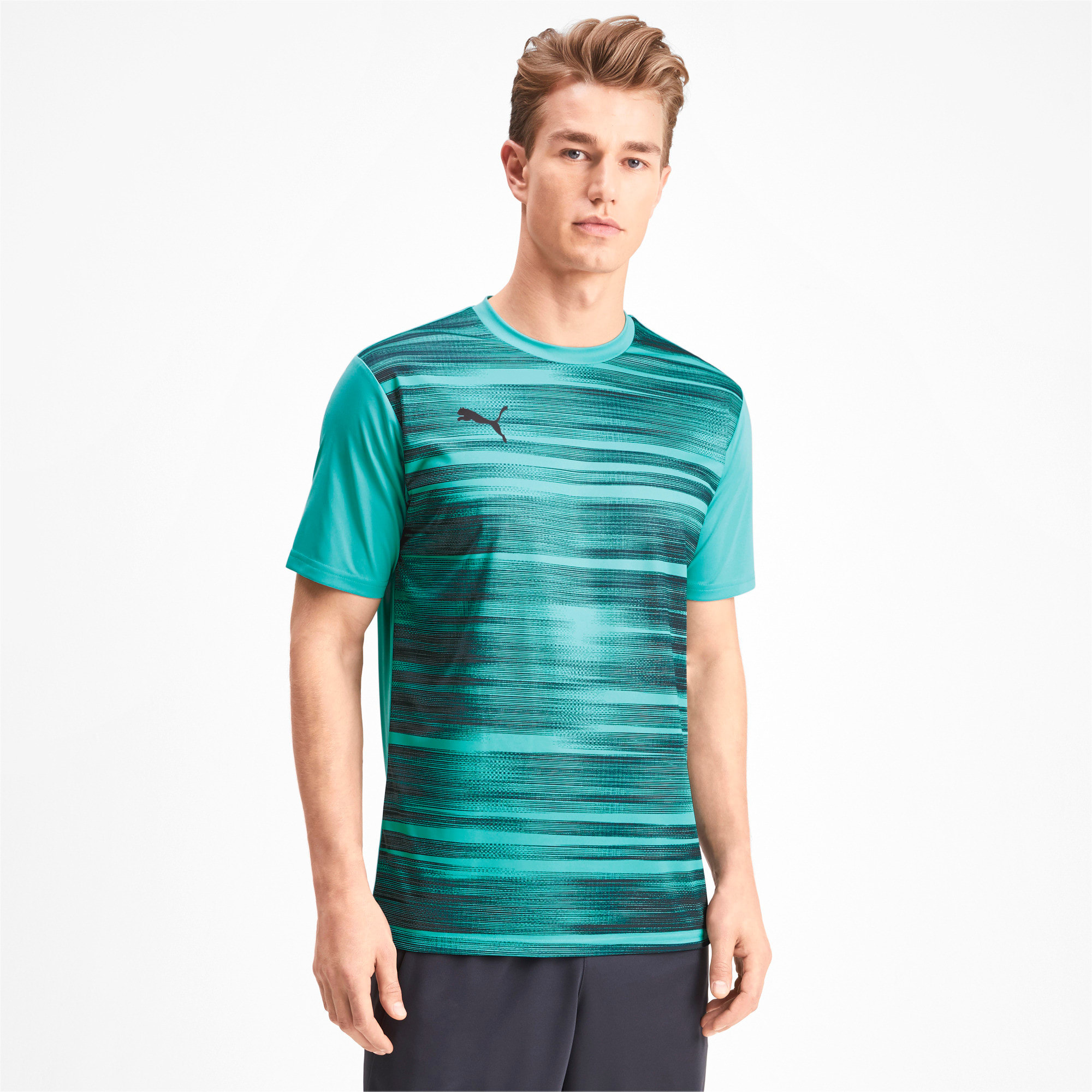 Thumbnail 1 of Core shirt met print voor heren, Blue Turquoise-Ebony, medium