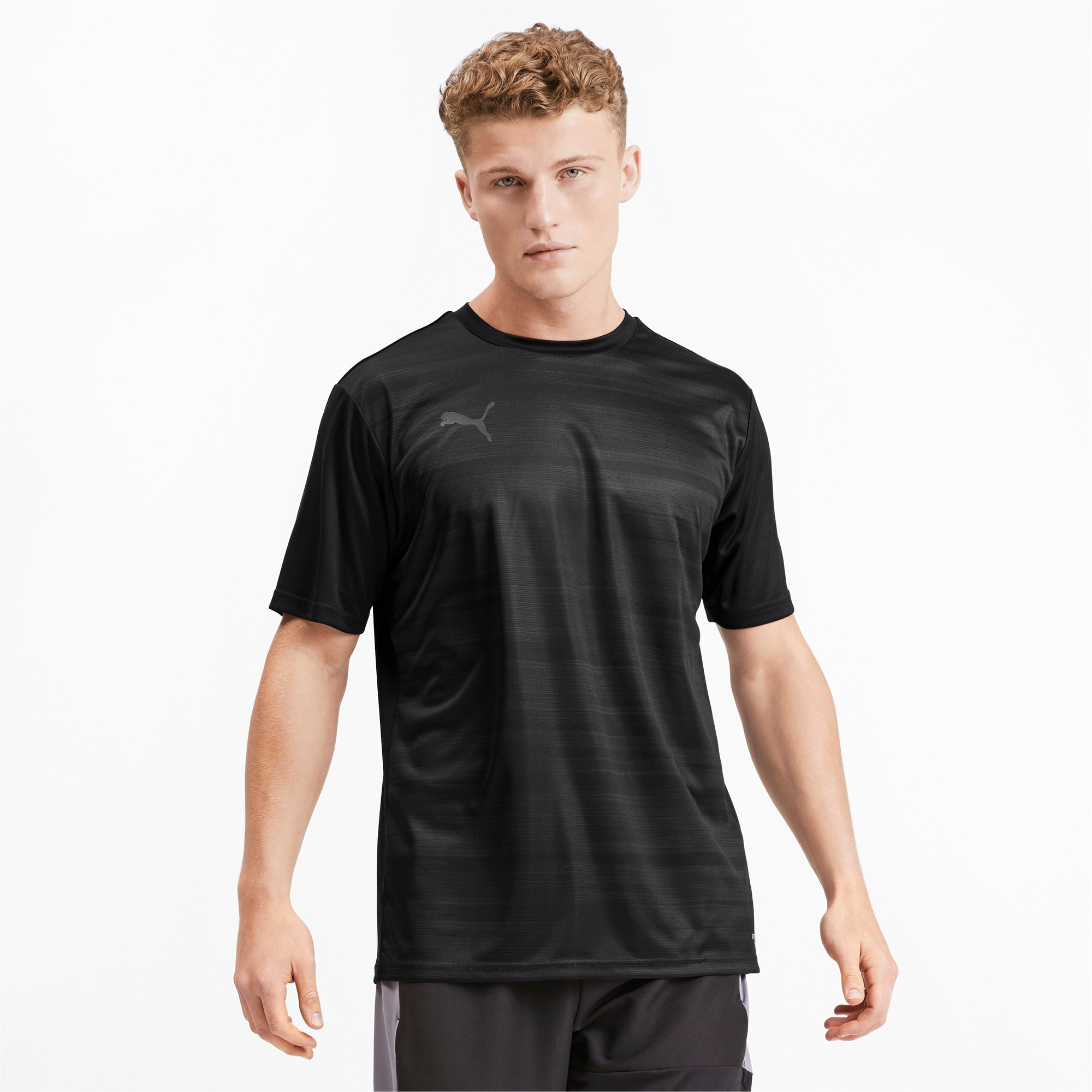 Thumbnail 1 of Core Graphic Men's Shirt, Puma Black-Phantom Black, medium