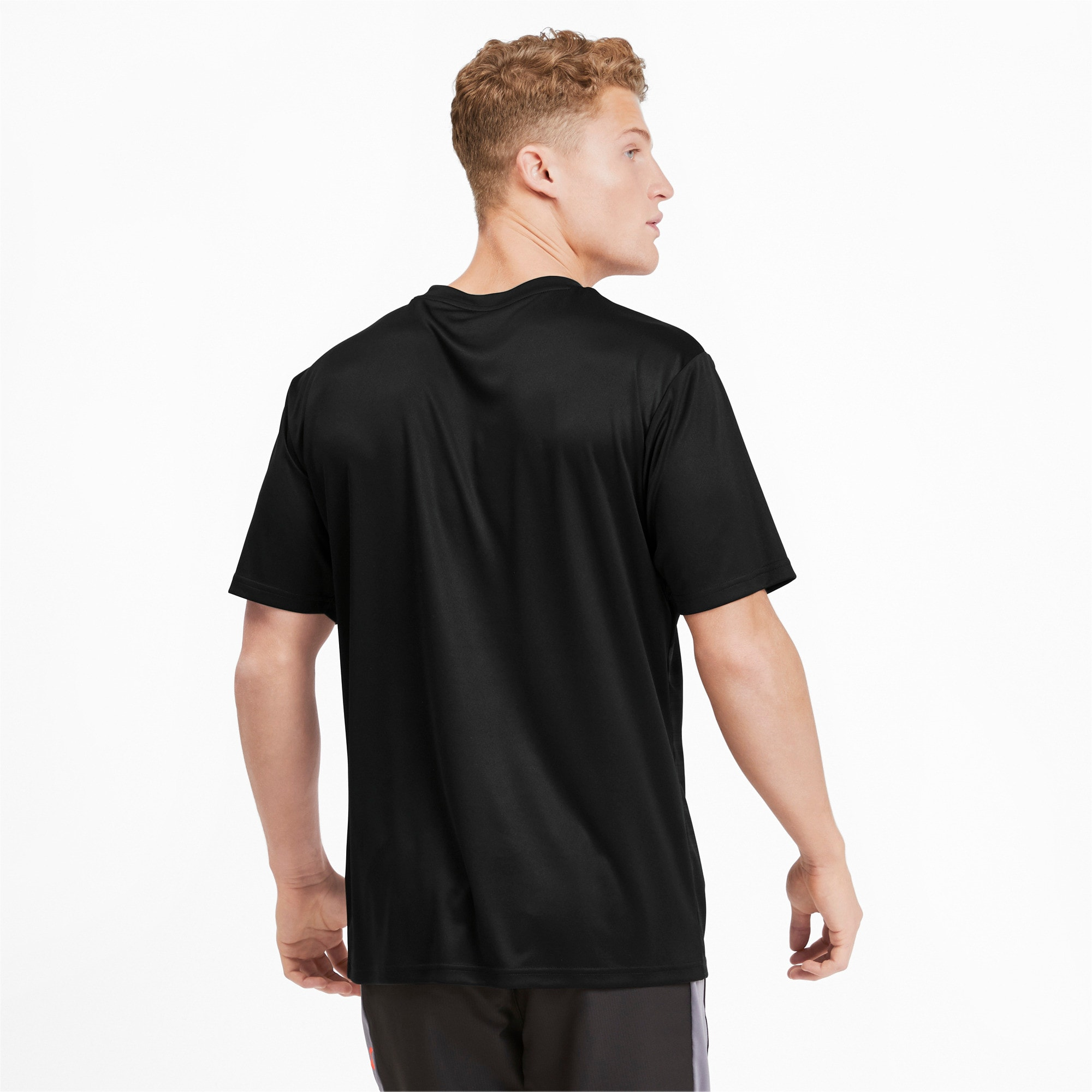 Thumbnail 2 of Core Graphic Men's Shirt, Puma Black-Phantom Black, medium