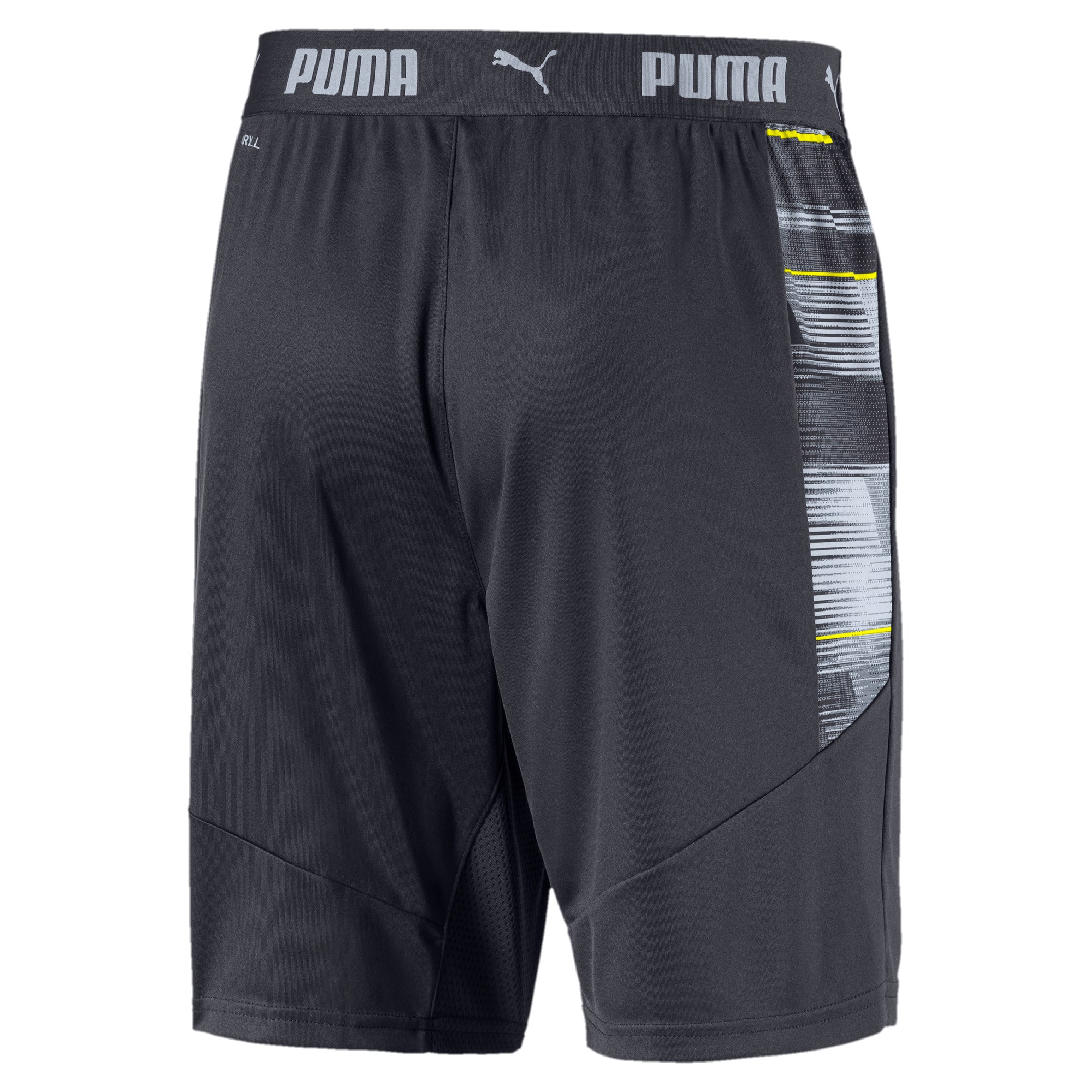 Thumbnail 5 of ftblNXT Graphic Men's Shorts, Ebony-Grey Dawn-Yellow Alert, medium