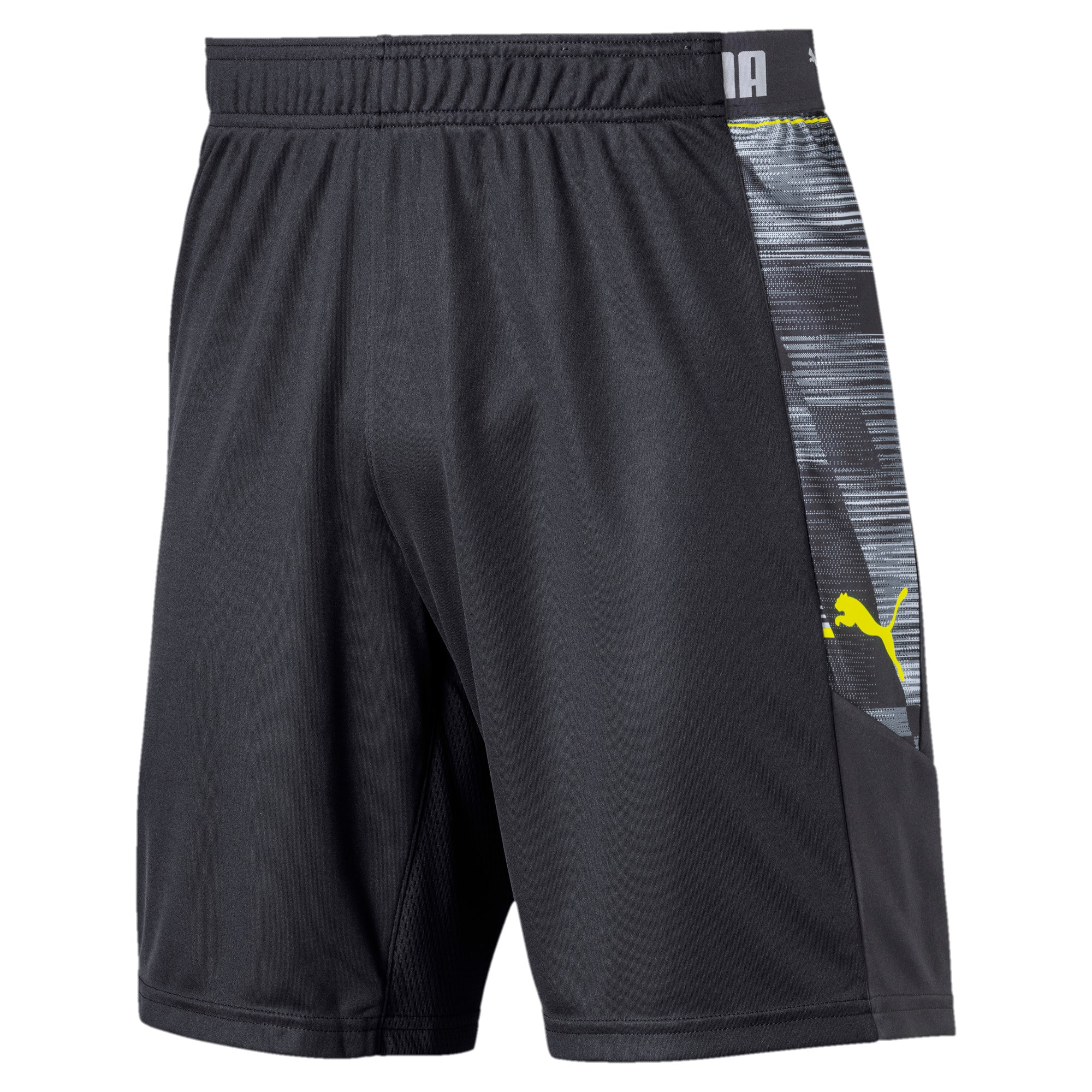Thumbnail 4 of ftblNXT Graphic Men's Shorts, Ebony-Grey Dawn-Yellow Alert, medium