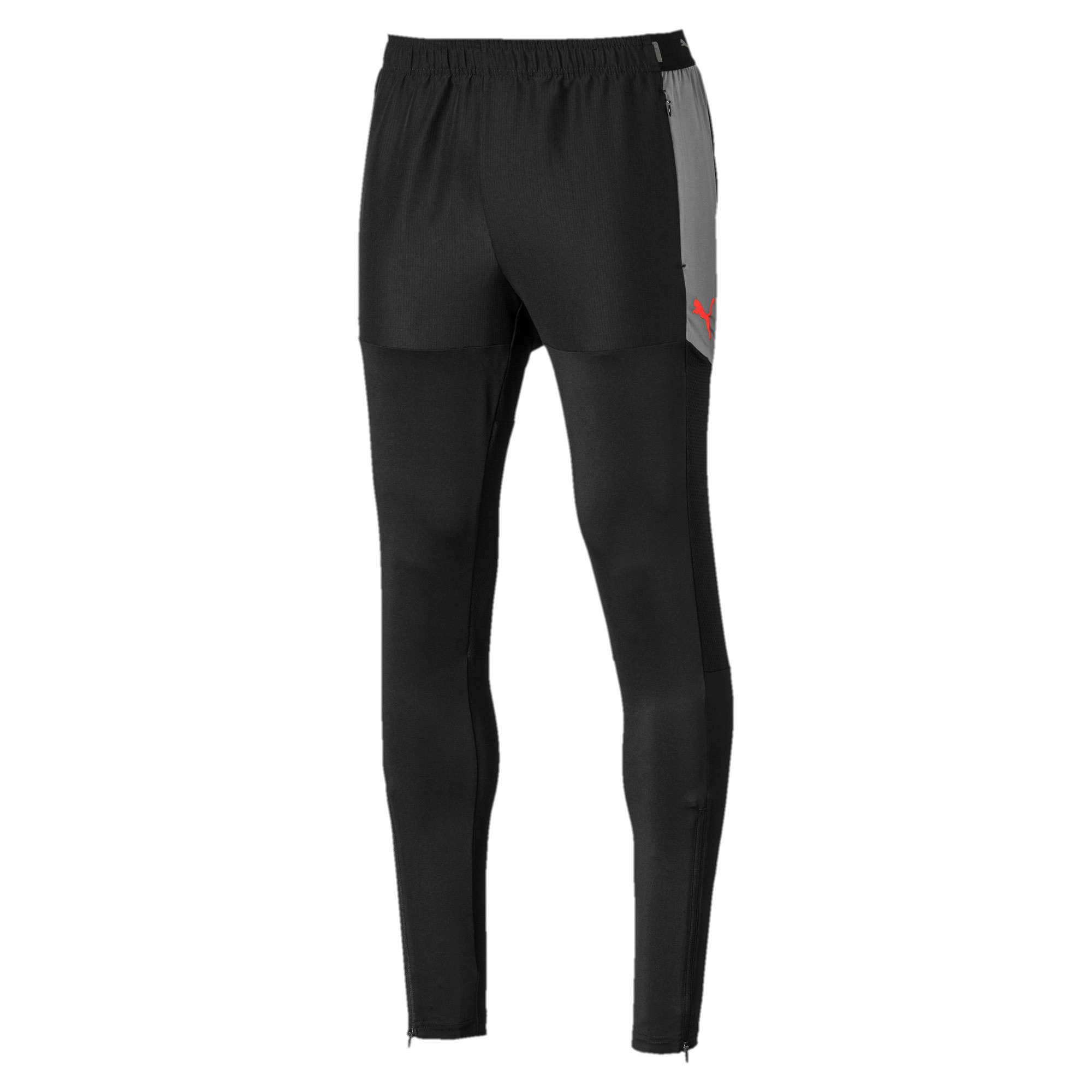 Thumbnail 4 of Pro Herren Gestrickte Trainingshose, Puma Black-Nrgy Red, medium