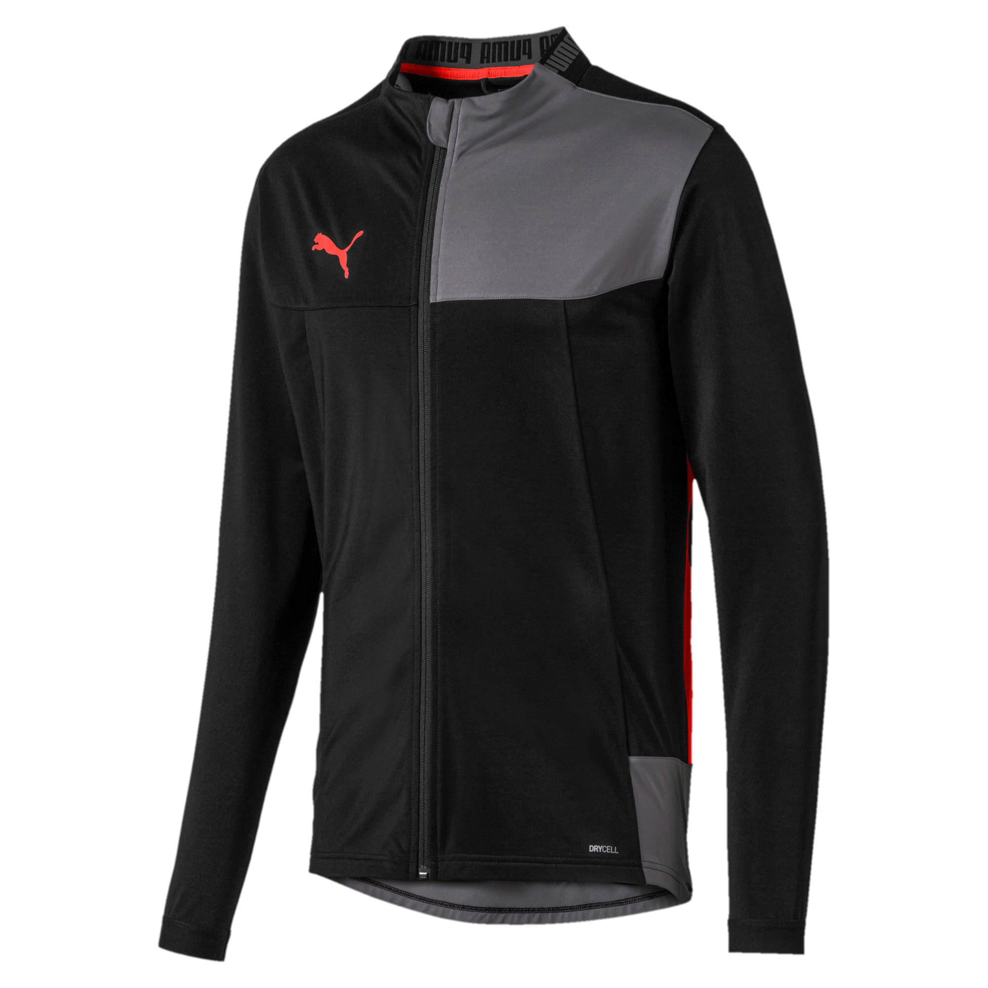 Thumbnail 4 of Trainingsjack voor heren, Puma Black-Nrgy Red, medium