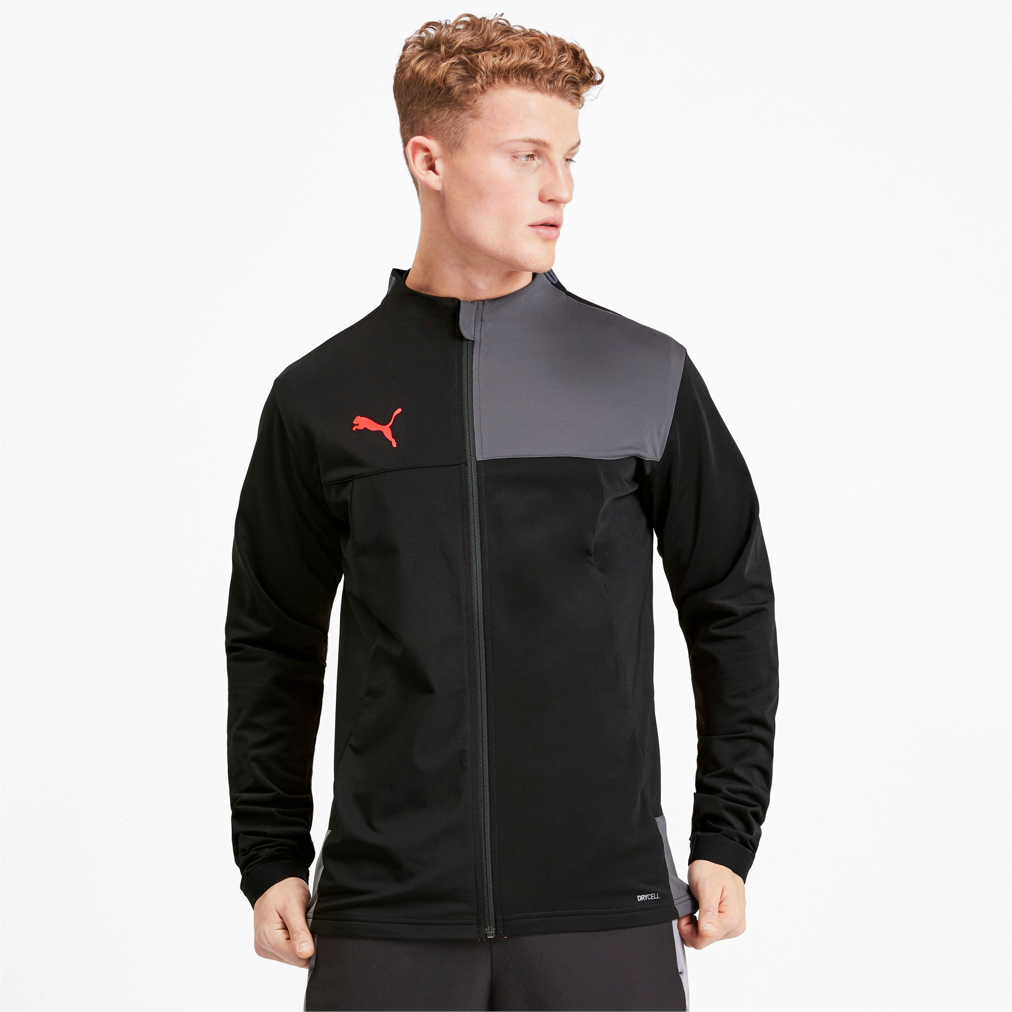 Thumbnail 1 of Trainingsjack voor heren, Puma Black-Nrgy Red, medium