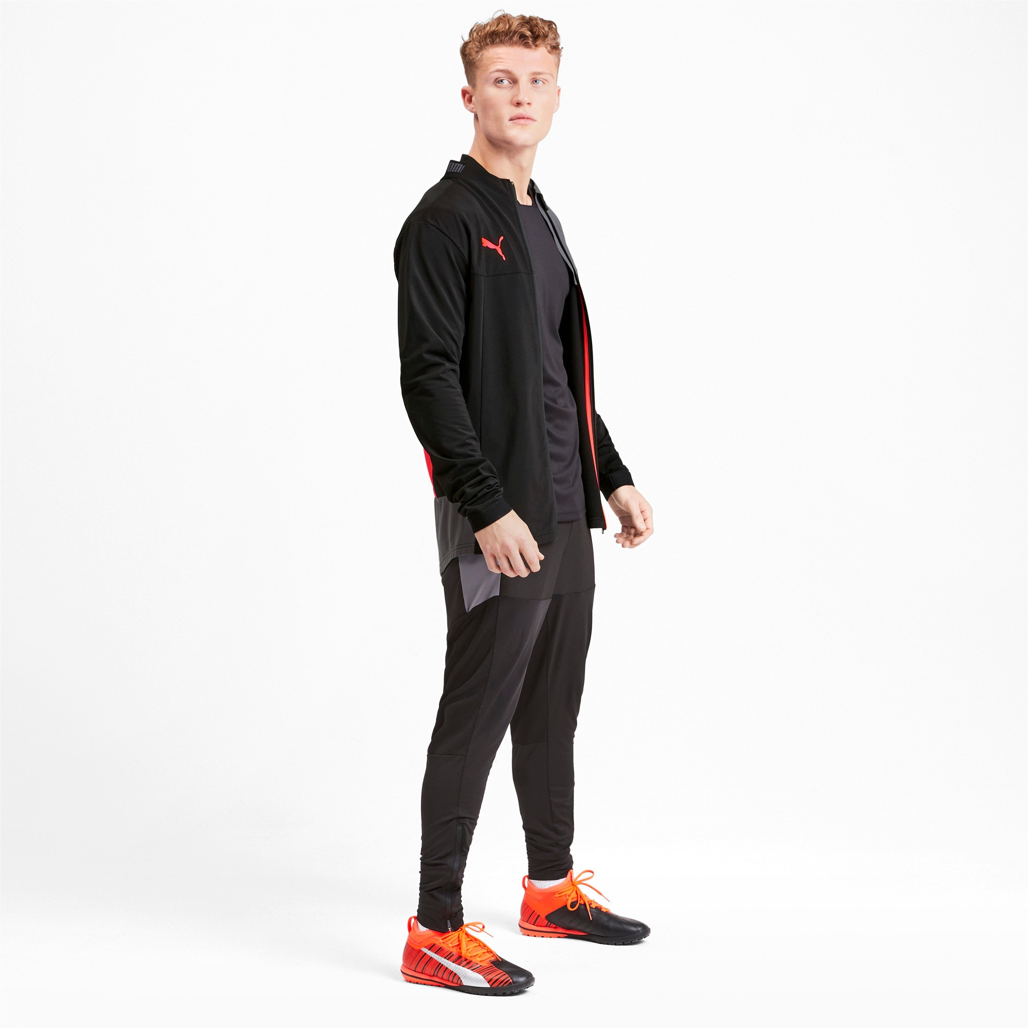 Thumbnail 3 of Trainingsjack voor heren, Puma Black-Nrgy Red, medium
