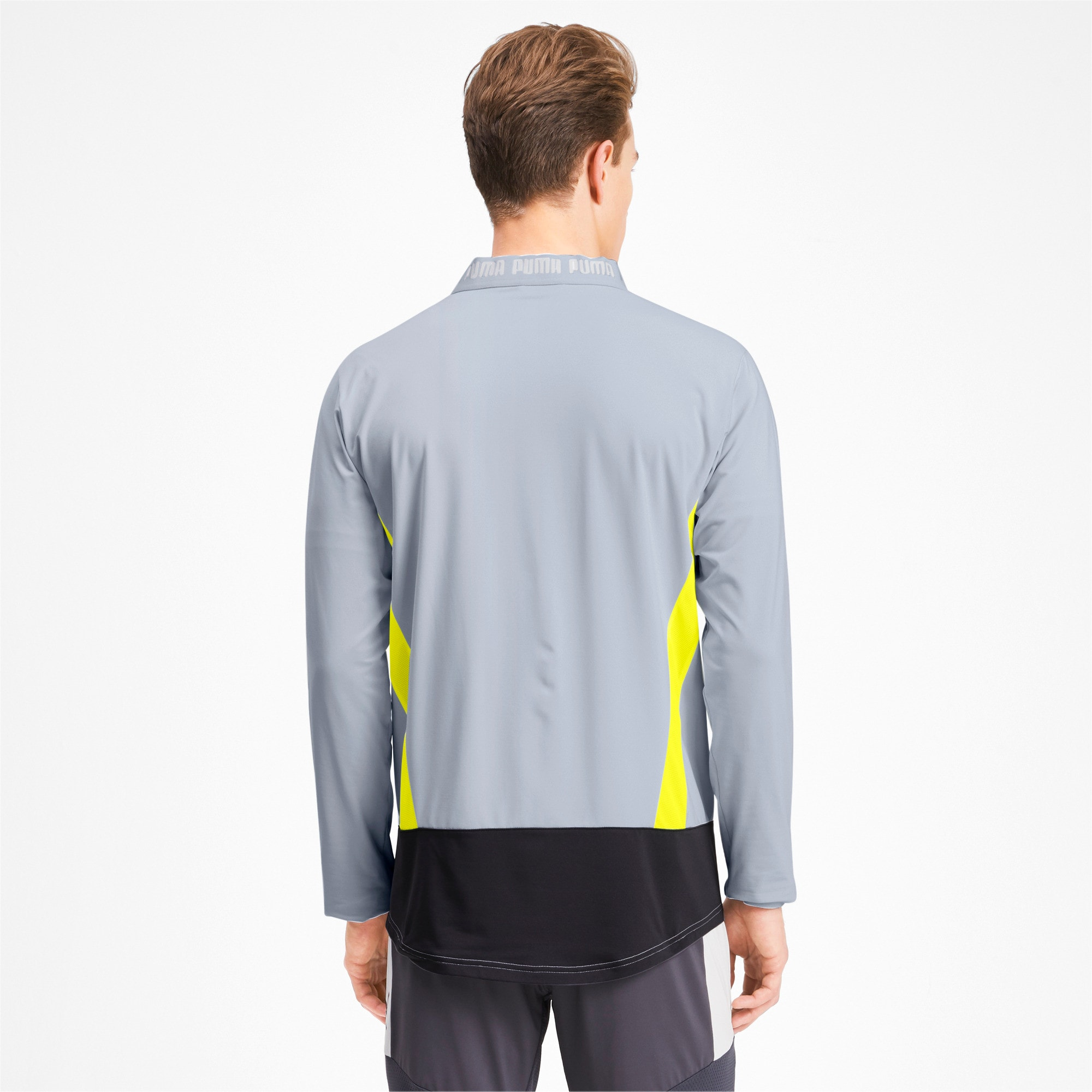 Thumbnail 2 of Blouson de survêtement pour homme, Grey Dawn-Yellow Alert, medium