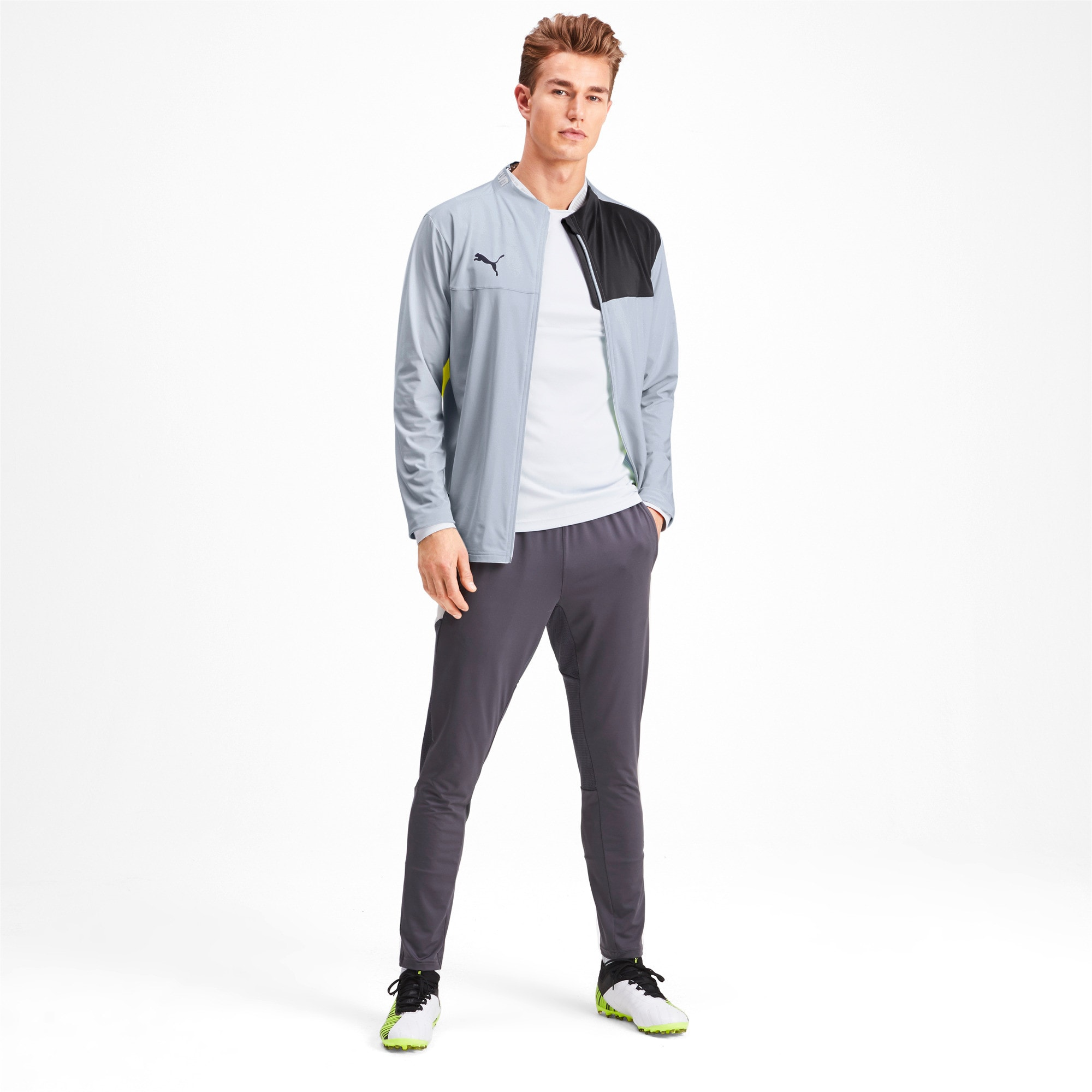 Thumbnail 3 of Blouson de survêtement pour homme, Grey Dawn-Yellow Alert, medium