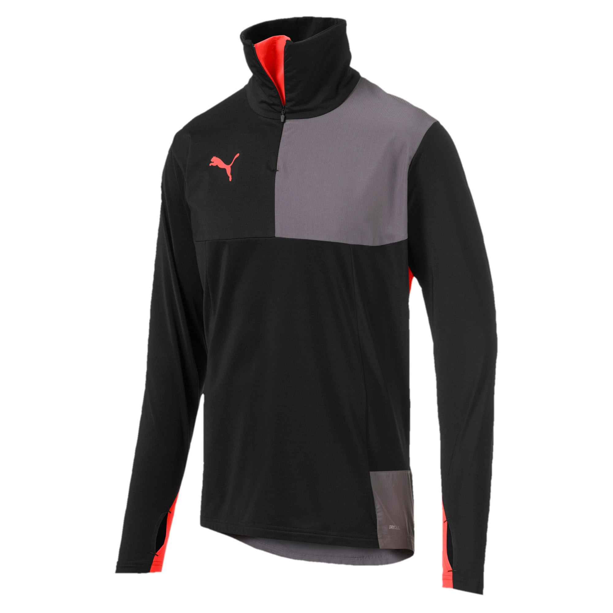 Thumbnail 4 of Quarter Zip Men's Top, Puma Black-Nrgy Red, medium